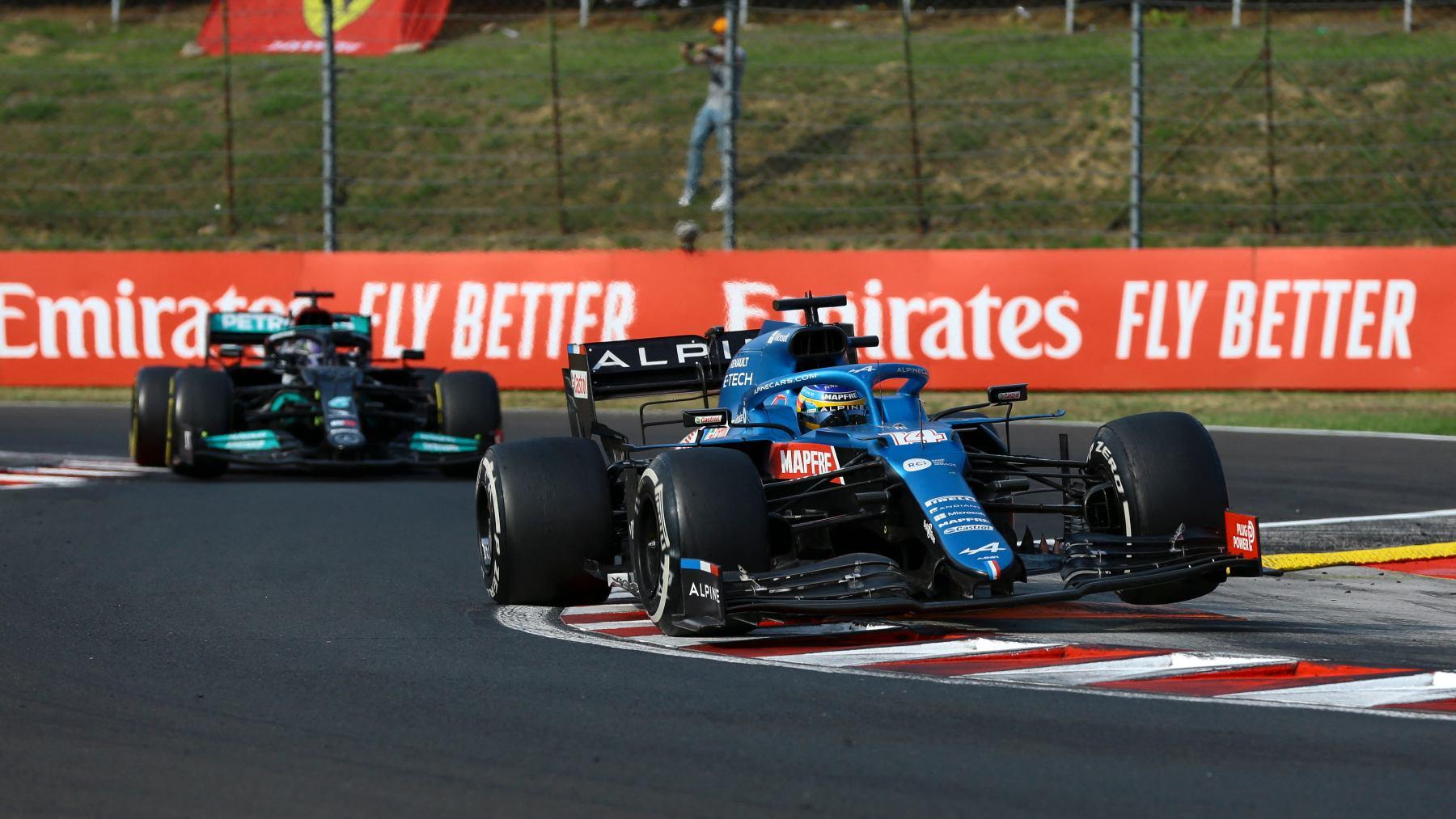 Fernando Alonso con Alpine. (AFP)