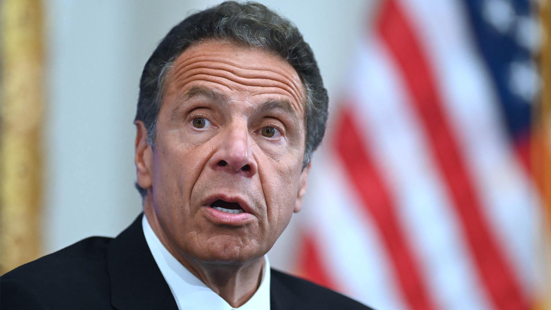 El dimitido gobernador de Nueva York, Andrew Cuomo (Foto: AFP).
