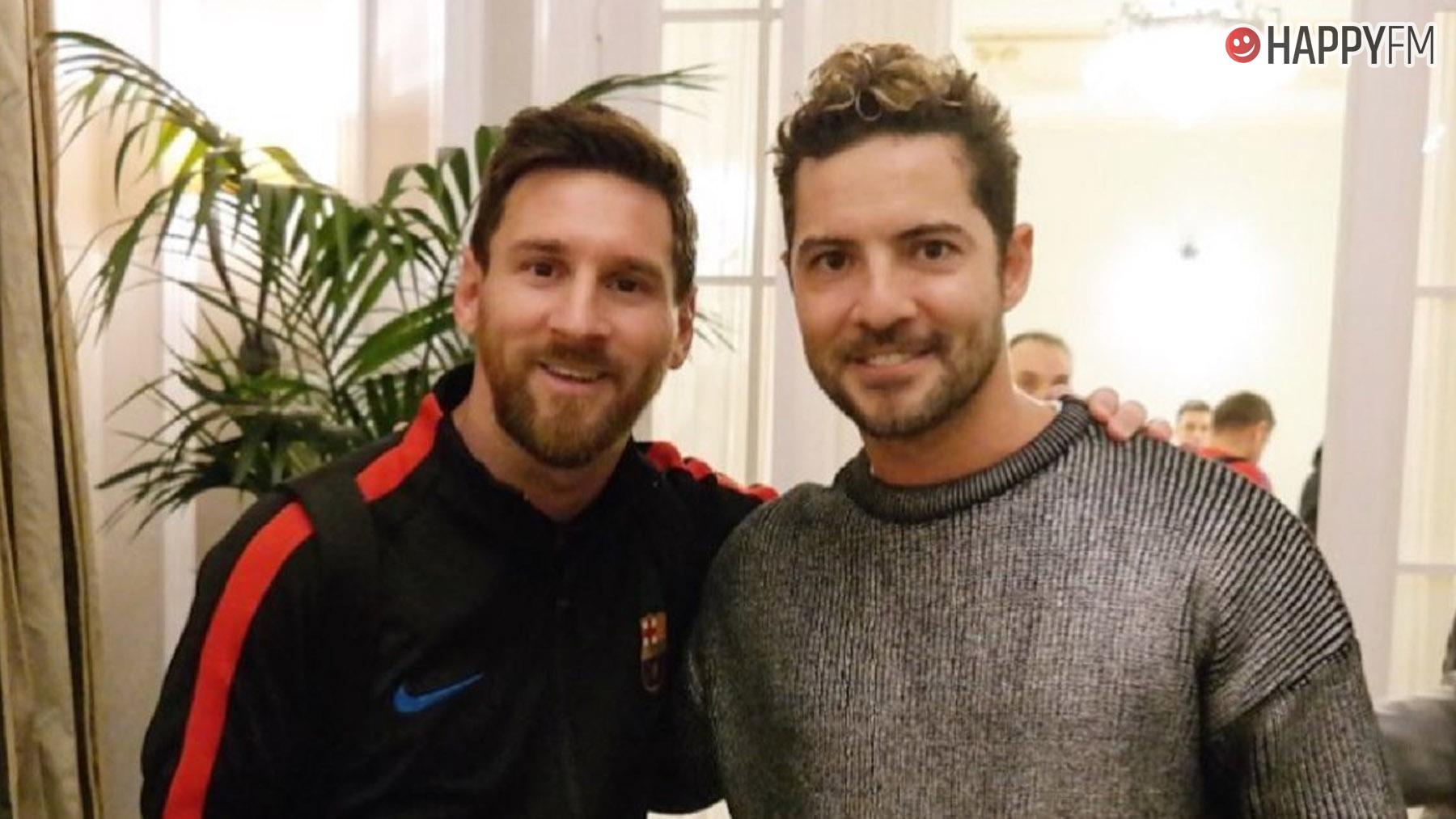 David Bisbal y Leo Messi