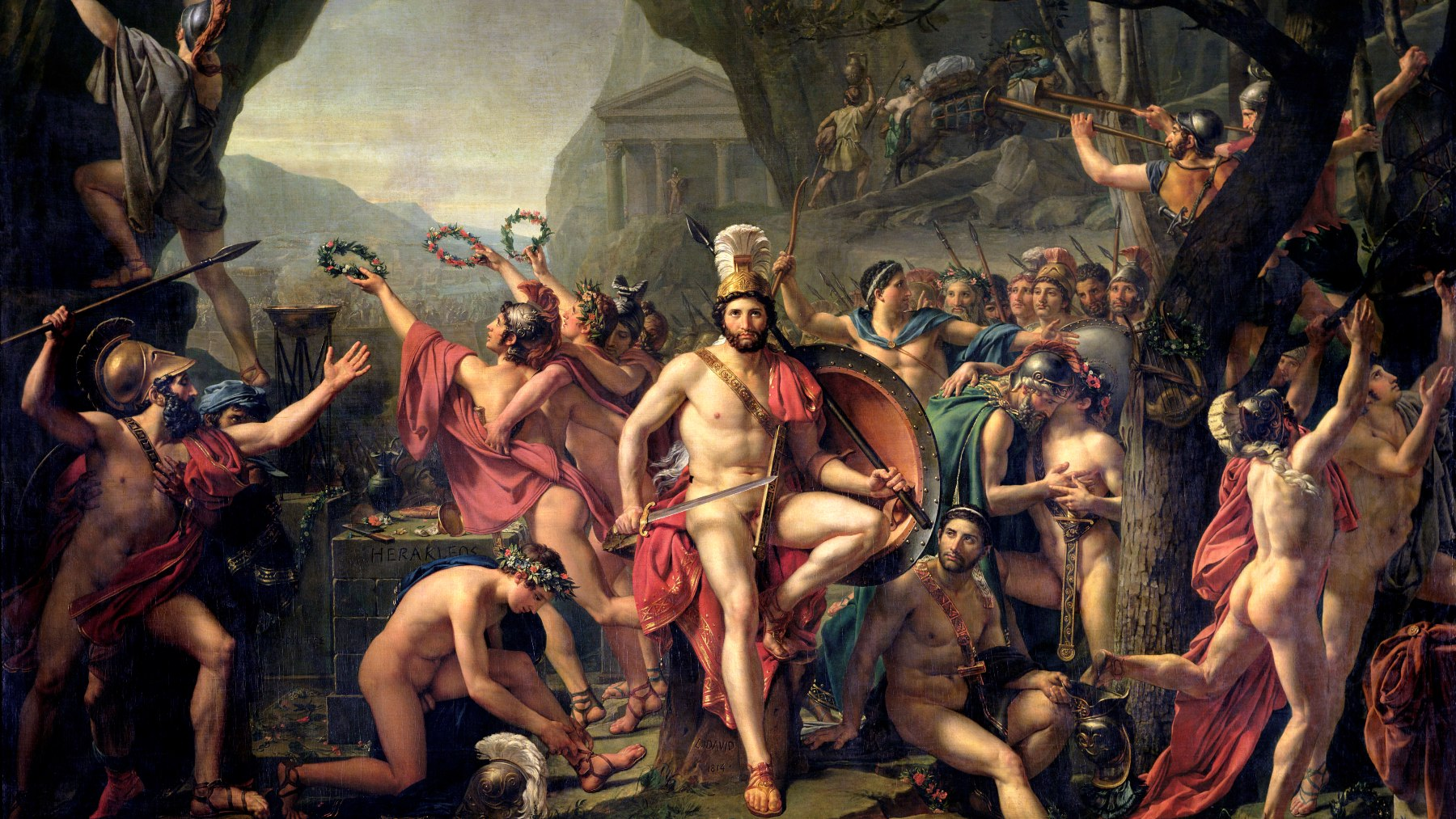 Cuadro 'Leonidas en las Termópilas' de Jacques-Louis David