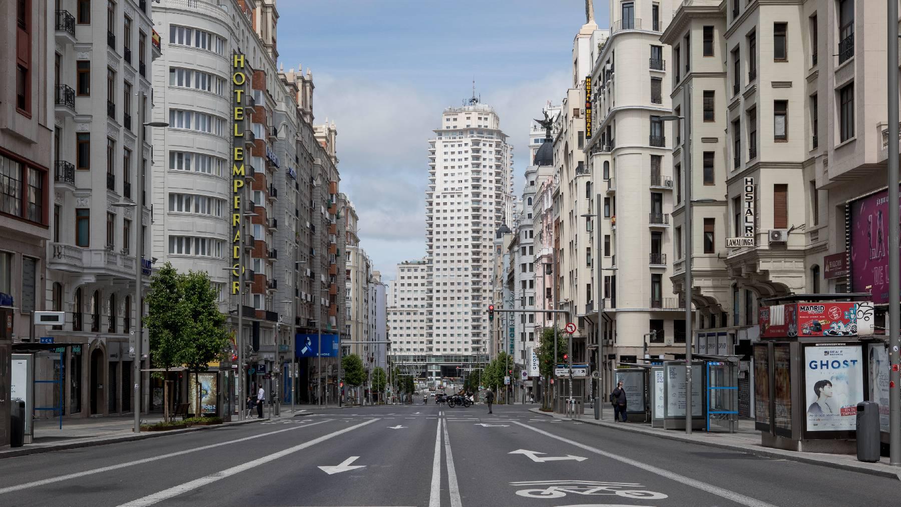 Calle Gran Vía (Madrid).