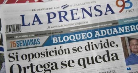 Portada de La Prensa.