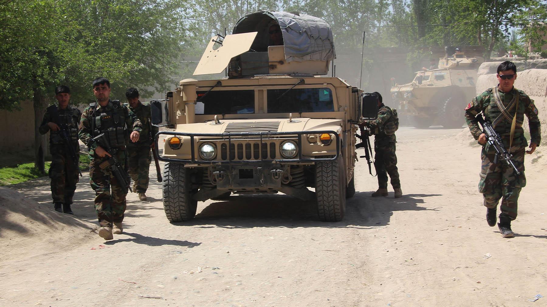 Las Fuerzas de Seguridad y Defensa Nacional de Afganistan.