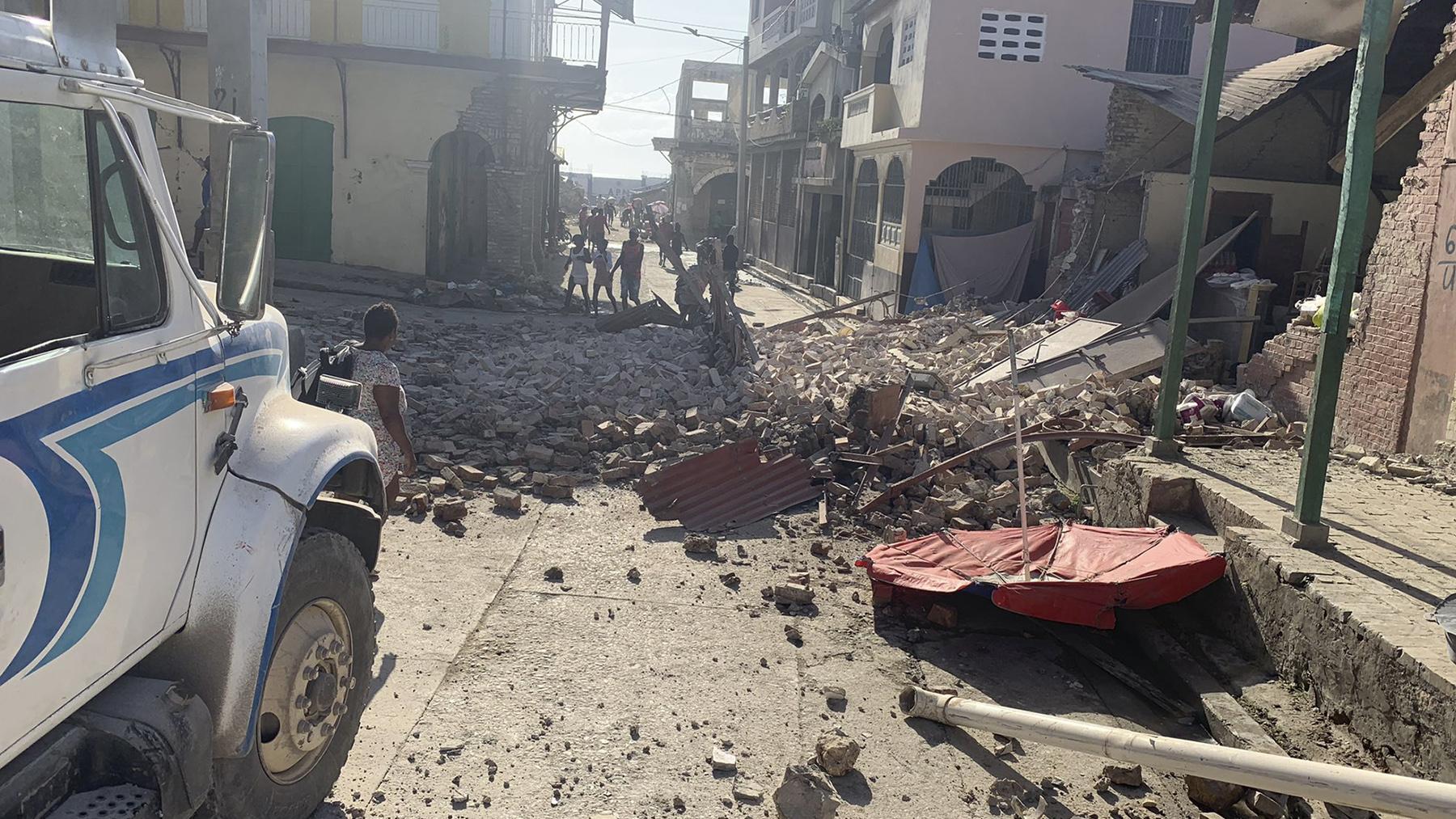 Imagen del terremoto registrado en Haití.