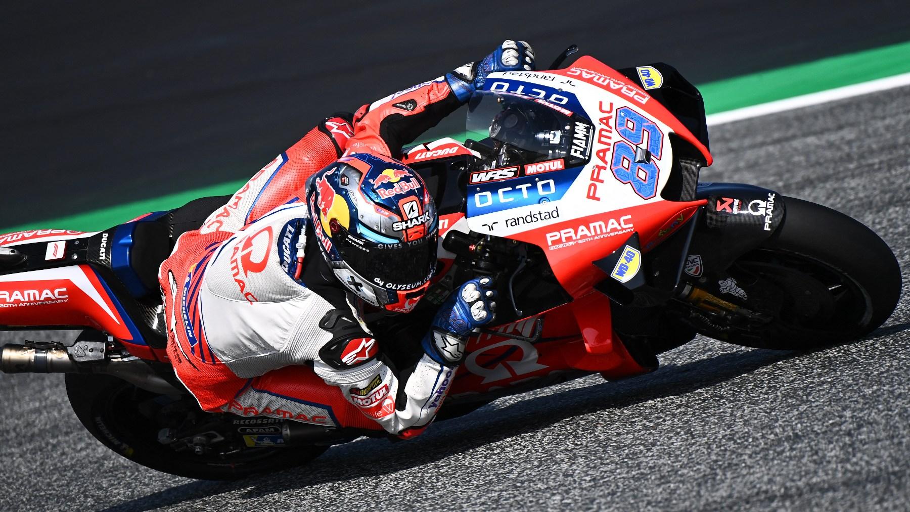 Jorge Martín, durante la clasificación del GP de Austria de MotoGP. (AFP)