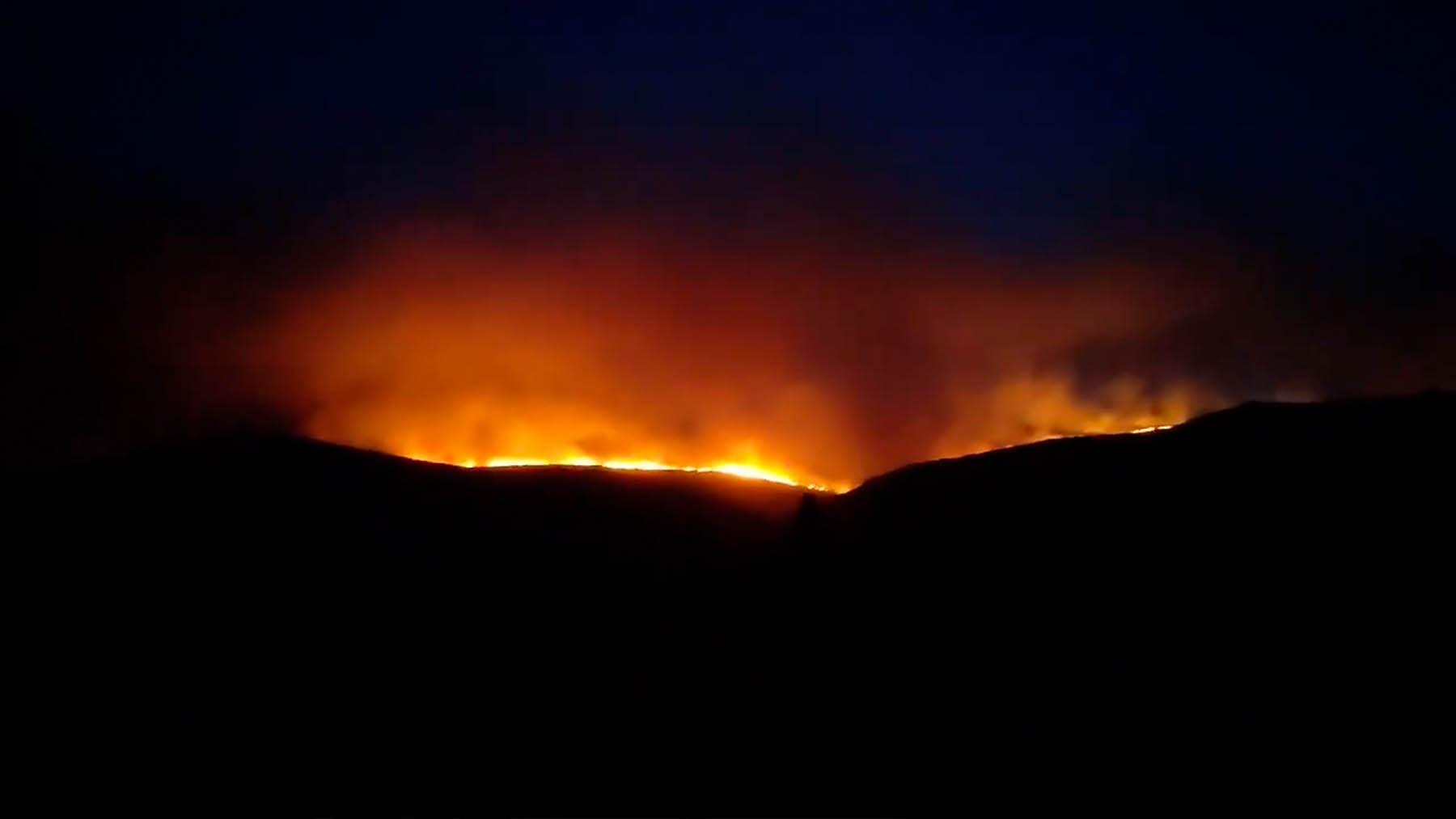Incendio de Navalacruz, Ávila. Archivo.