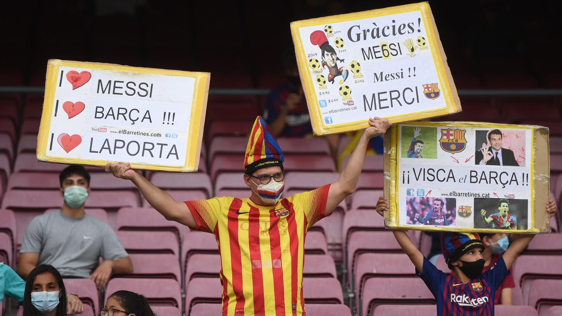 Afición del Barcelona en el Camp Nou. (Getty)