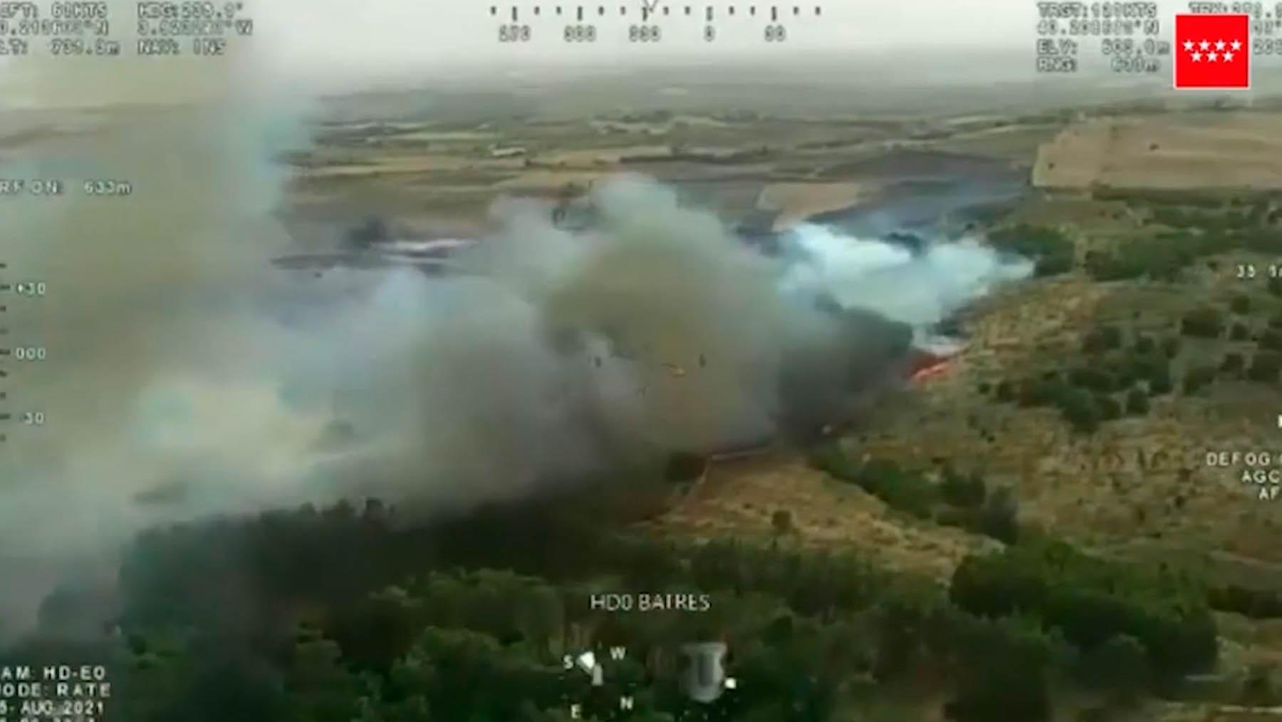 Incendio en la localidad madrileña de Batres.