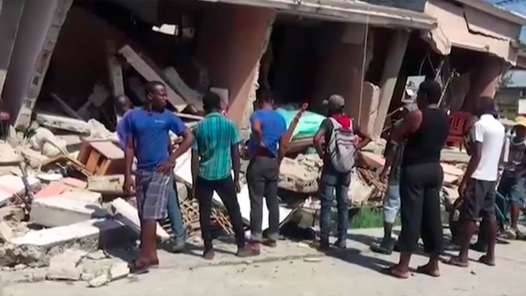 Imágenes del brutal terremoto de Haití.