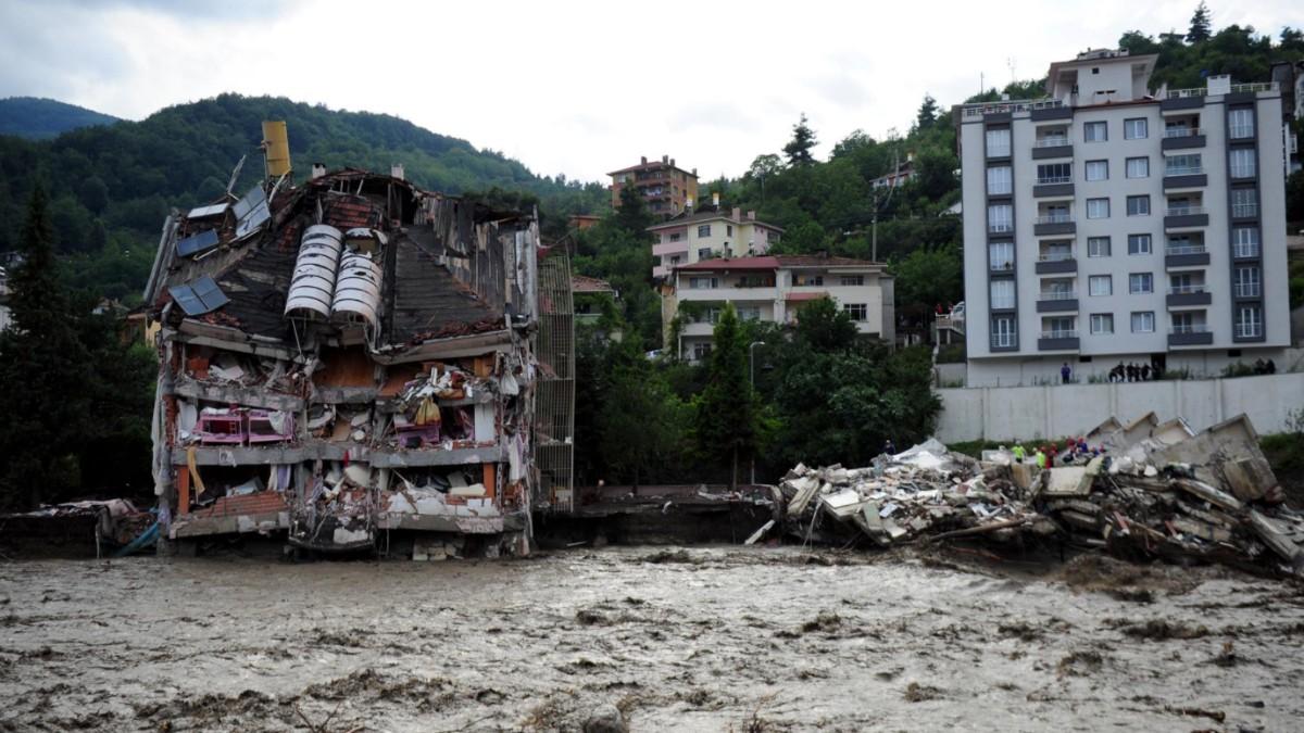 Inundaciones en la provincia de Kastamonu, en el norte de Turquía.