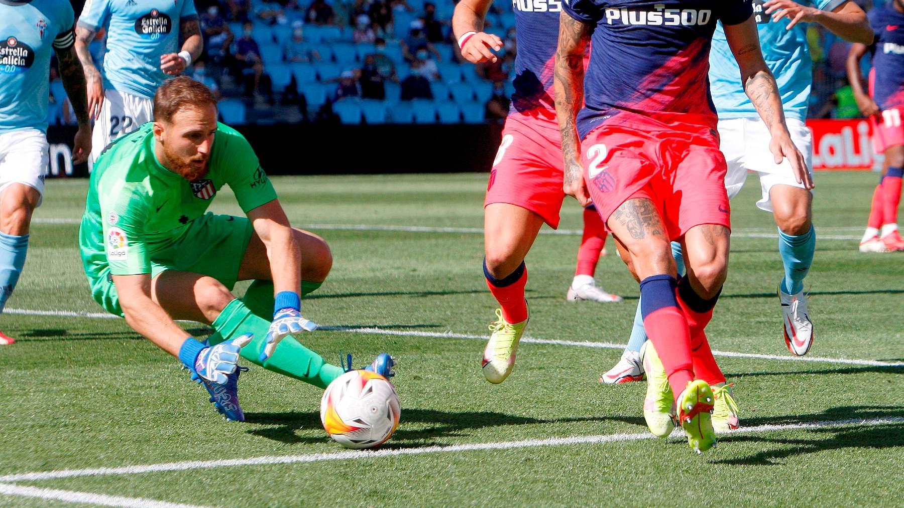 Jan Oblak, en el partido contra el Celta de Vigo. (EFE)