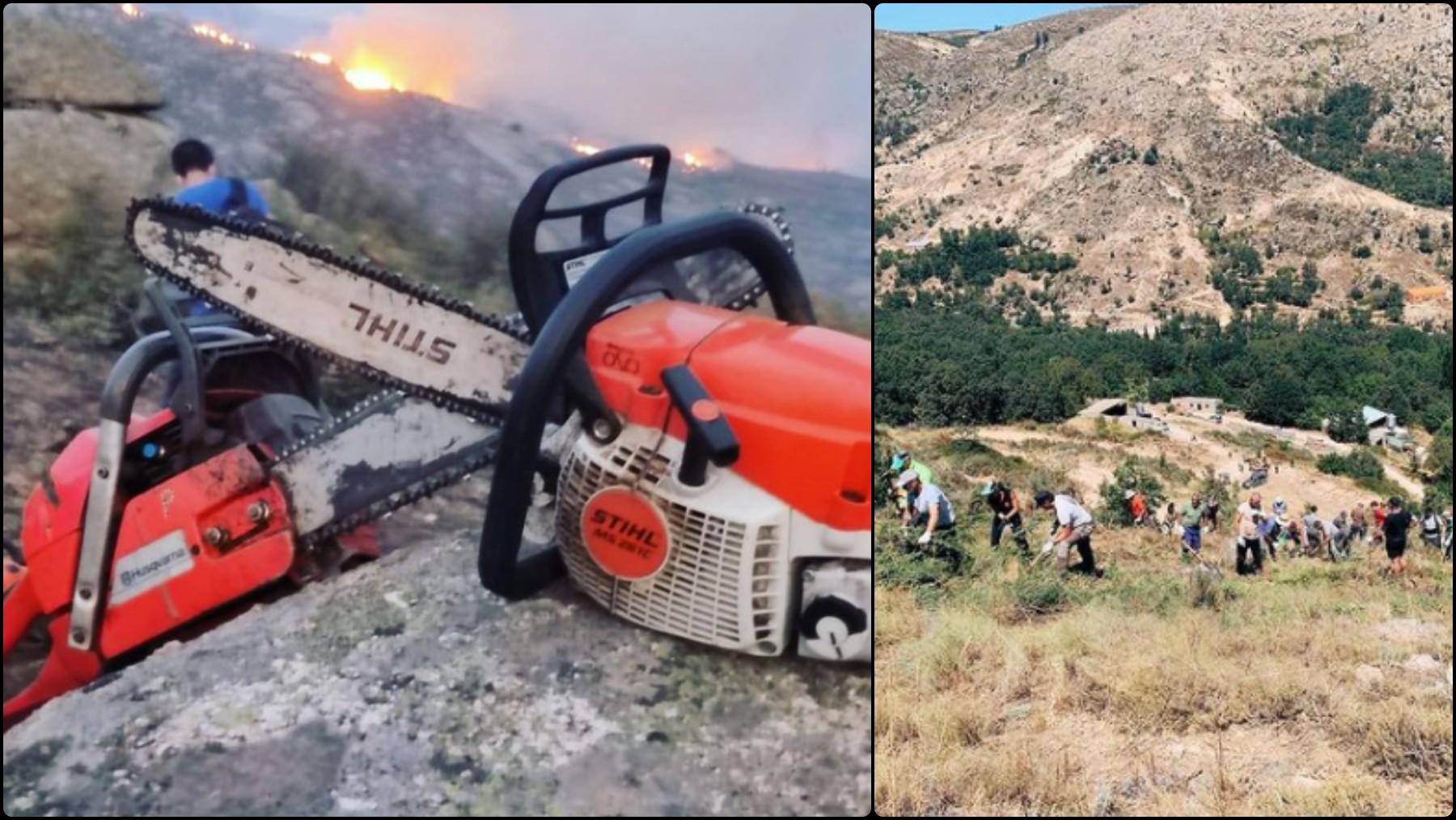 Casillas lucha contra las llamas en Navalacruz. (Instagram)