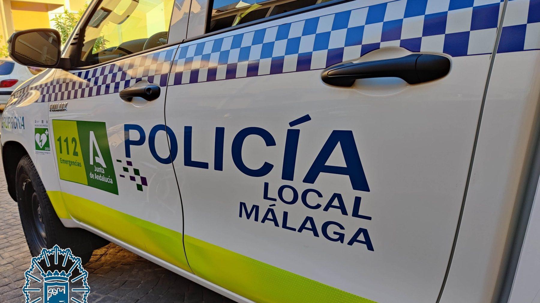 Vehículo patrulla de la Policía Local de Málaga.