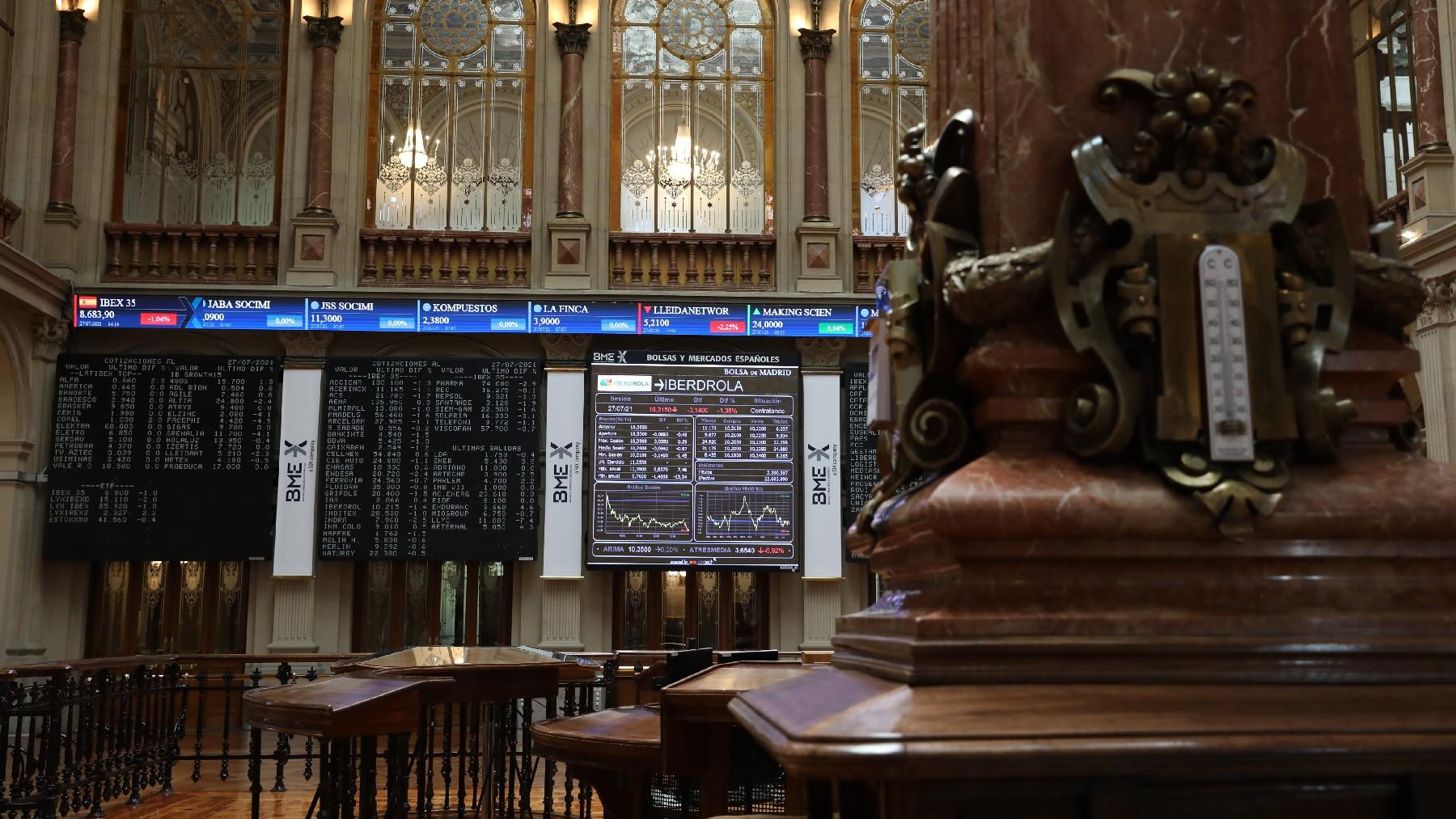 Panel de Iberdrola en la Bolsa.