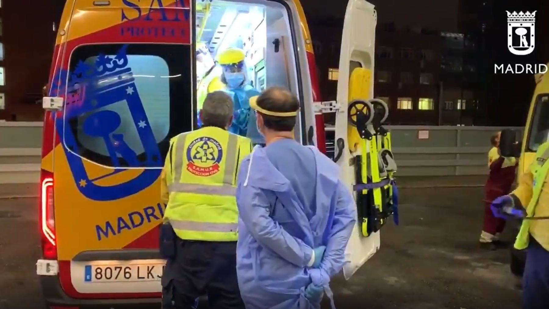 Ambulancia del Samur Protección-Civil. Archivo.