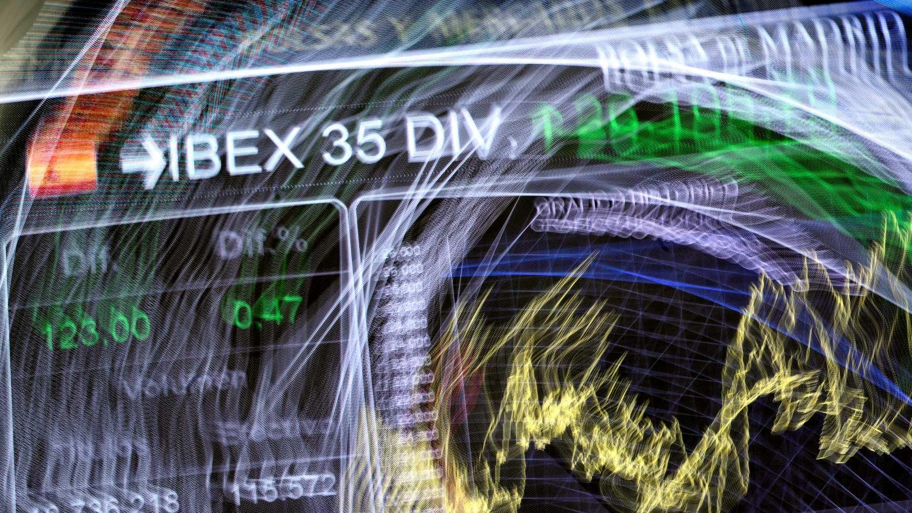 Panel del Ibex 35 con dividendos.