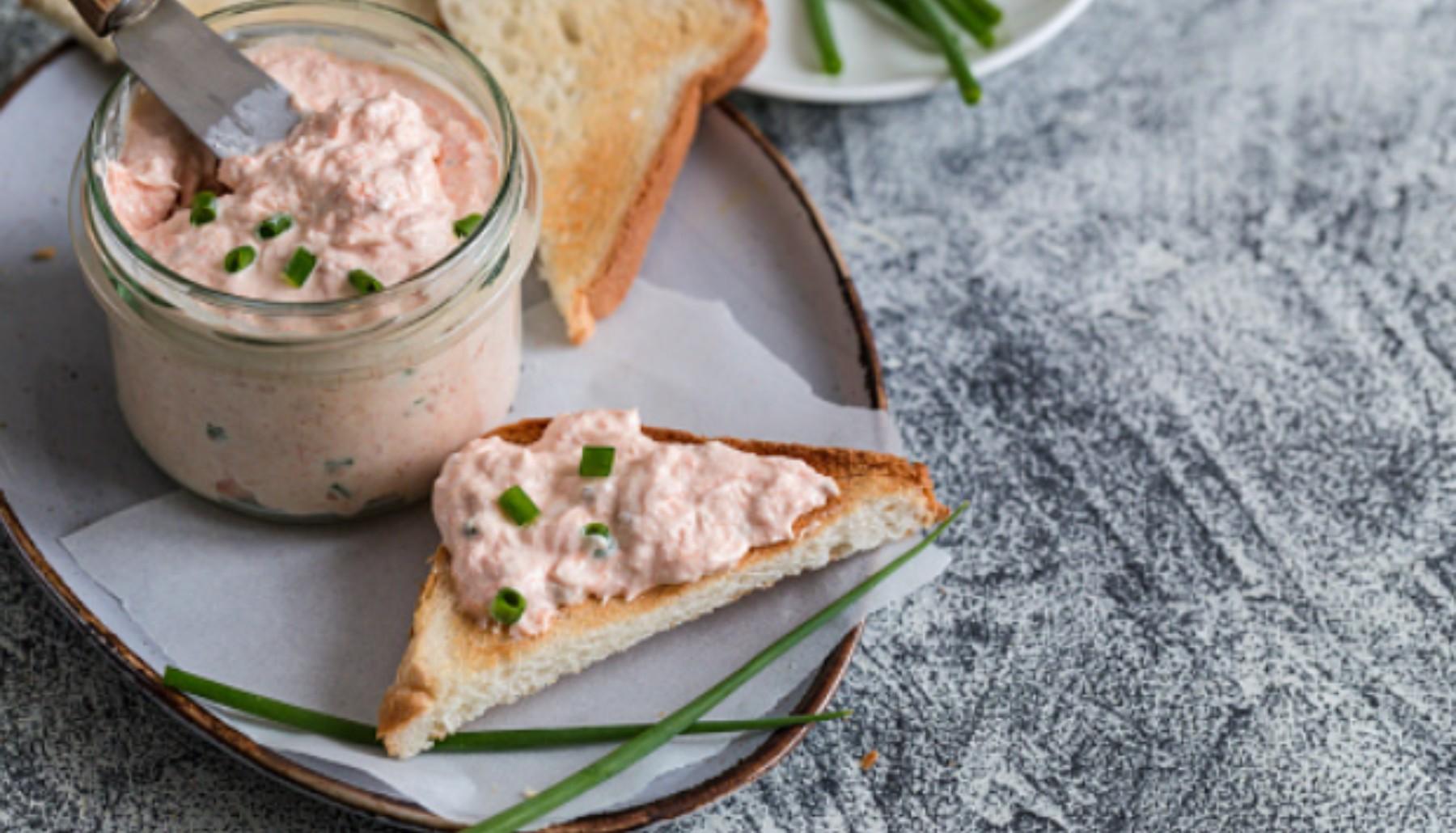 Paté de atún, mejillones y gambas, receta de aperitivo listo en 5 minutos