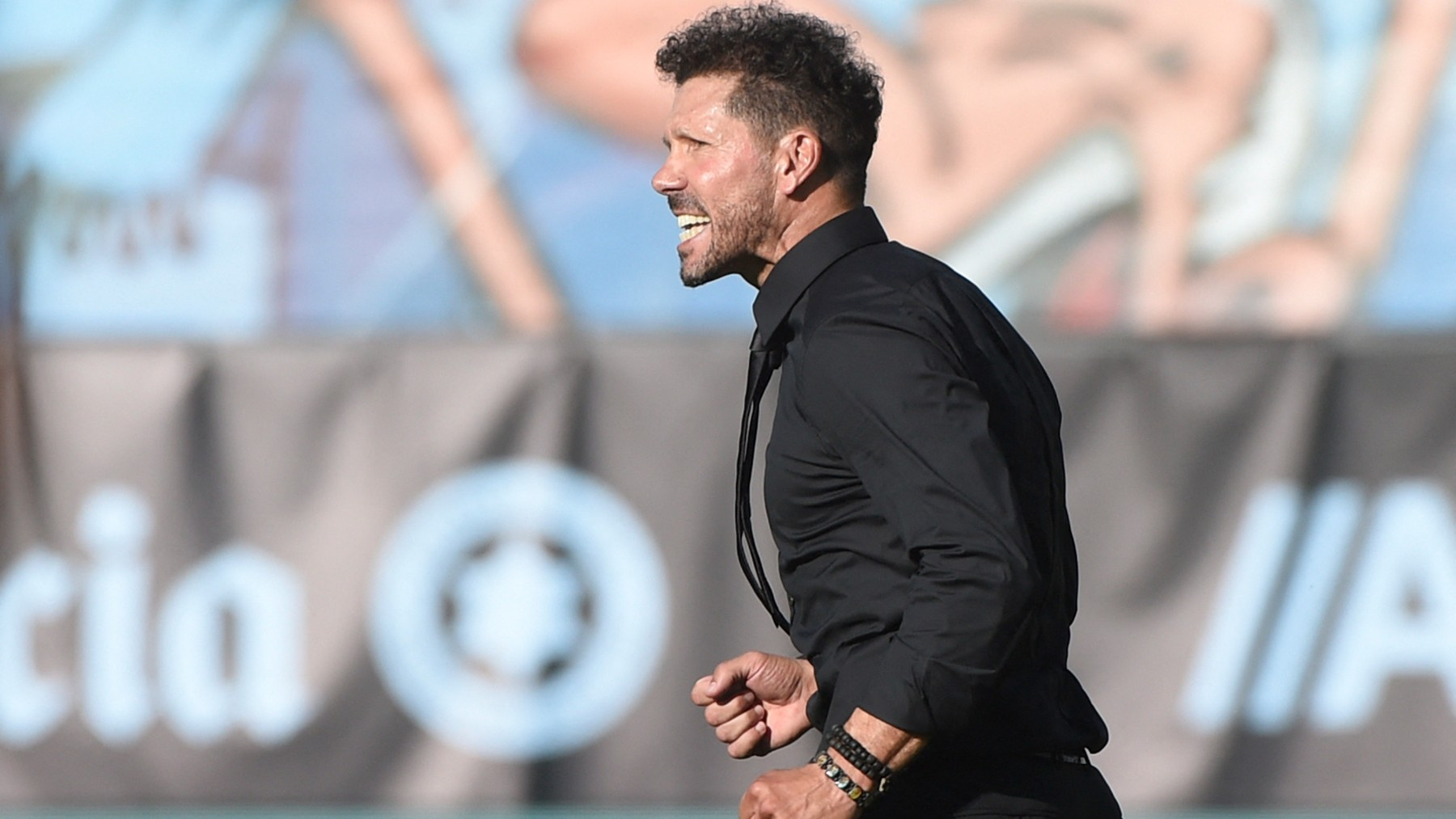 Simeone, en el partido contra el Celta. (AFP)