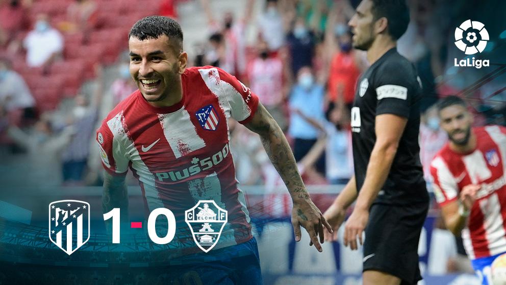 El Atlético venció al Elche en el Metropolitano.