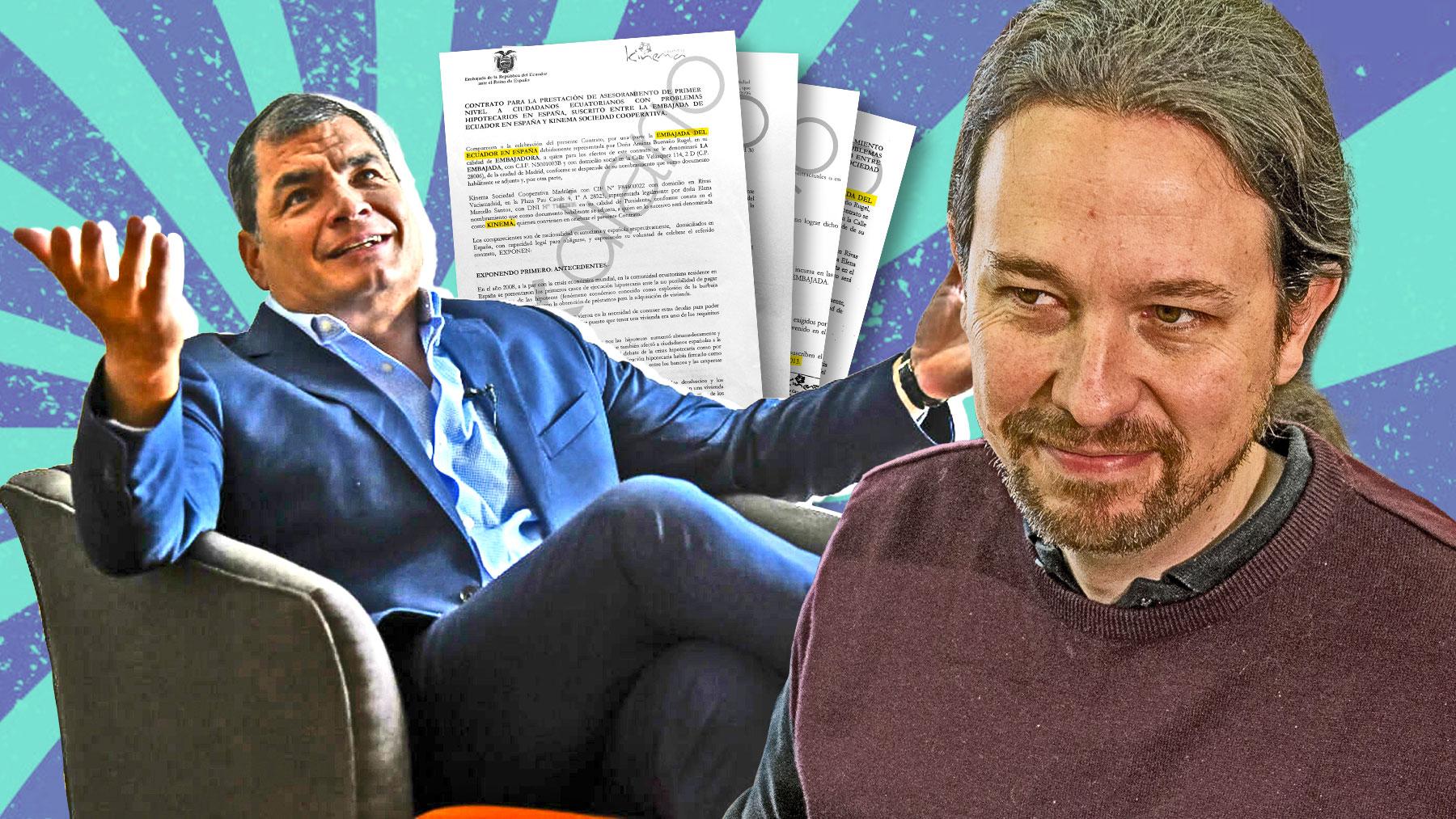 Rafael Correa, Pablo Iglesias y los contratos a la cooperativa Kinema.