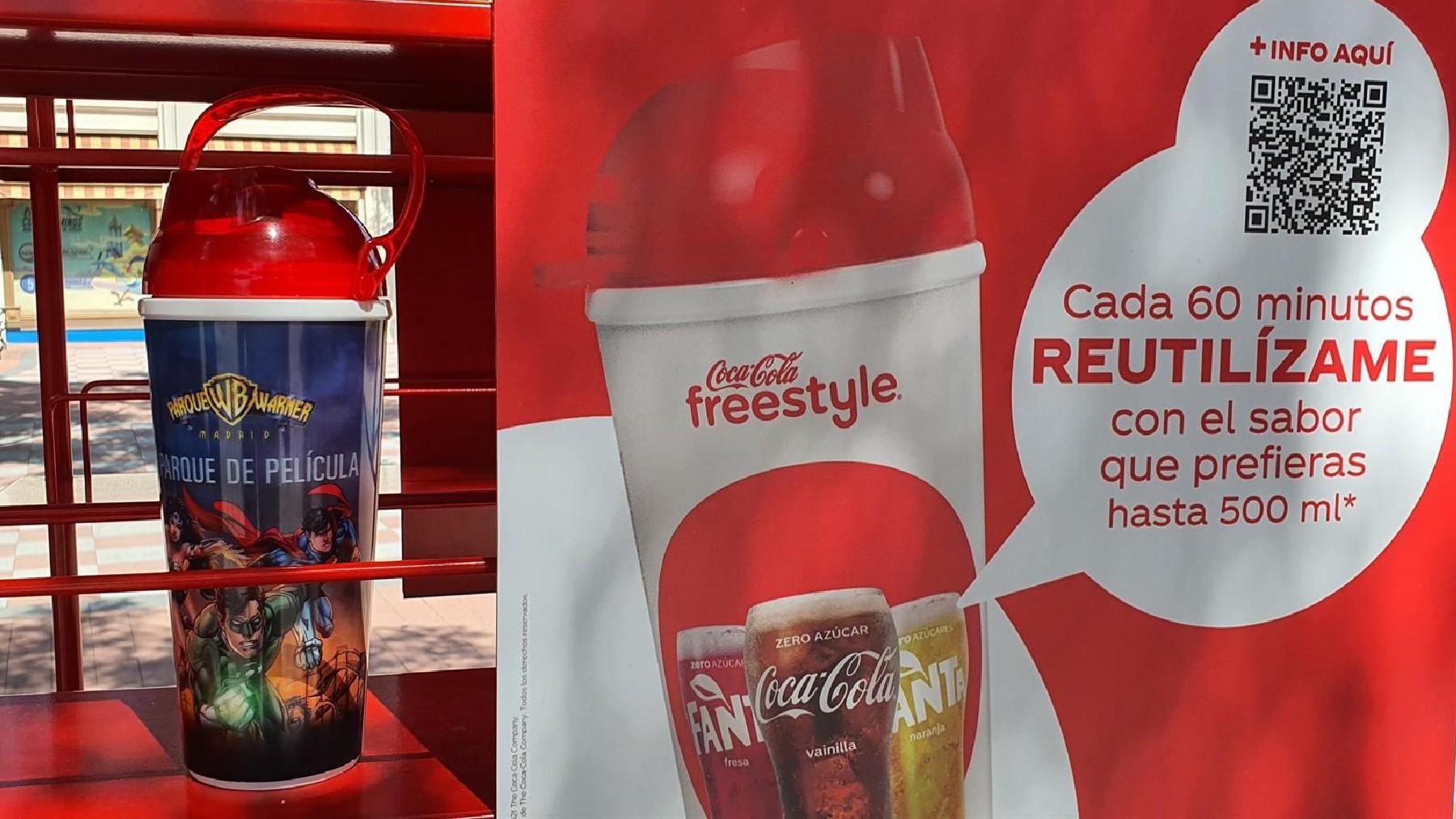 Dispensador de CocaCola.