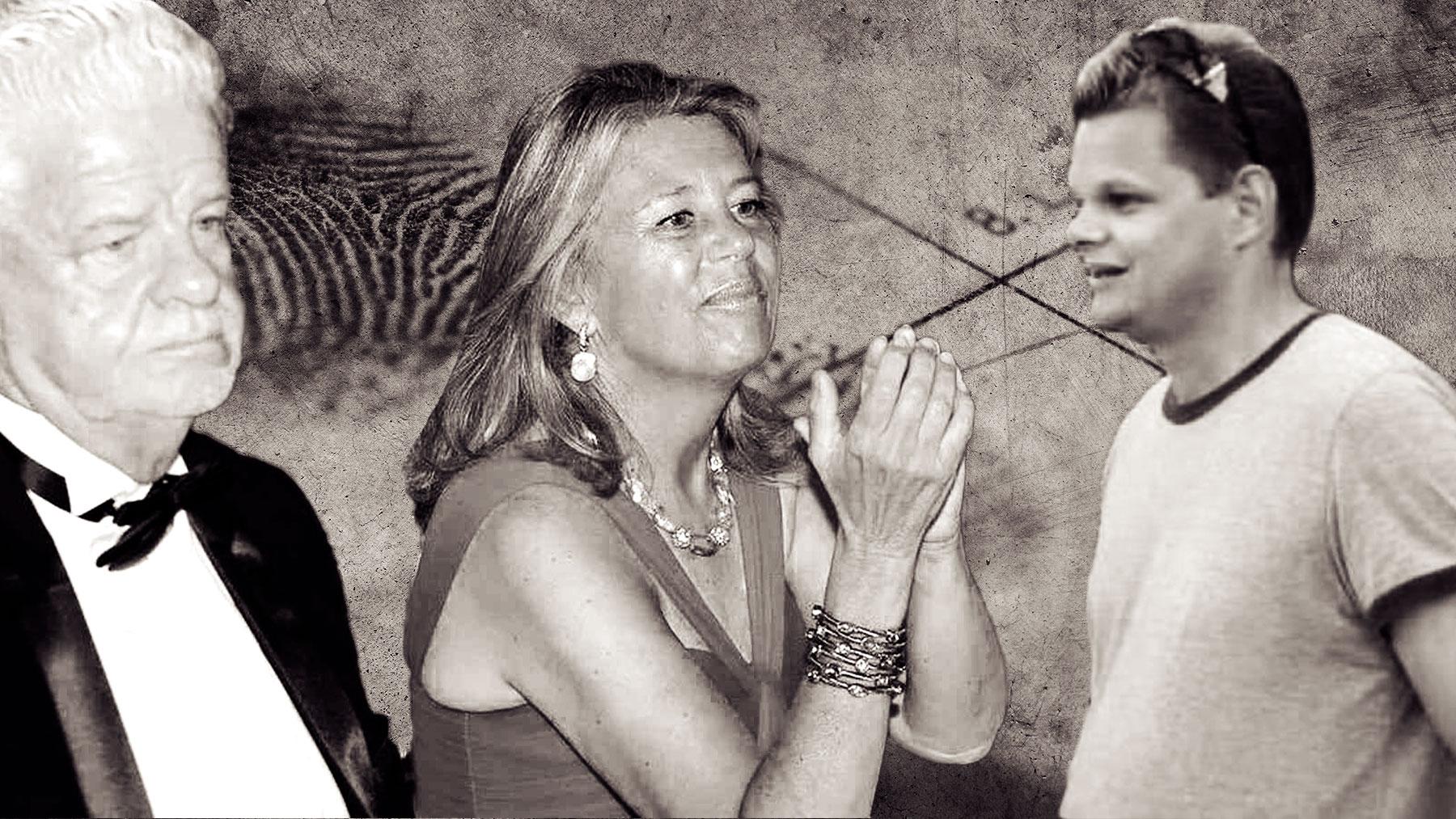 La alcaldesa de Marbella entre su marido y su hijastro.