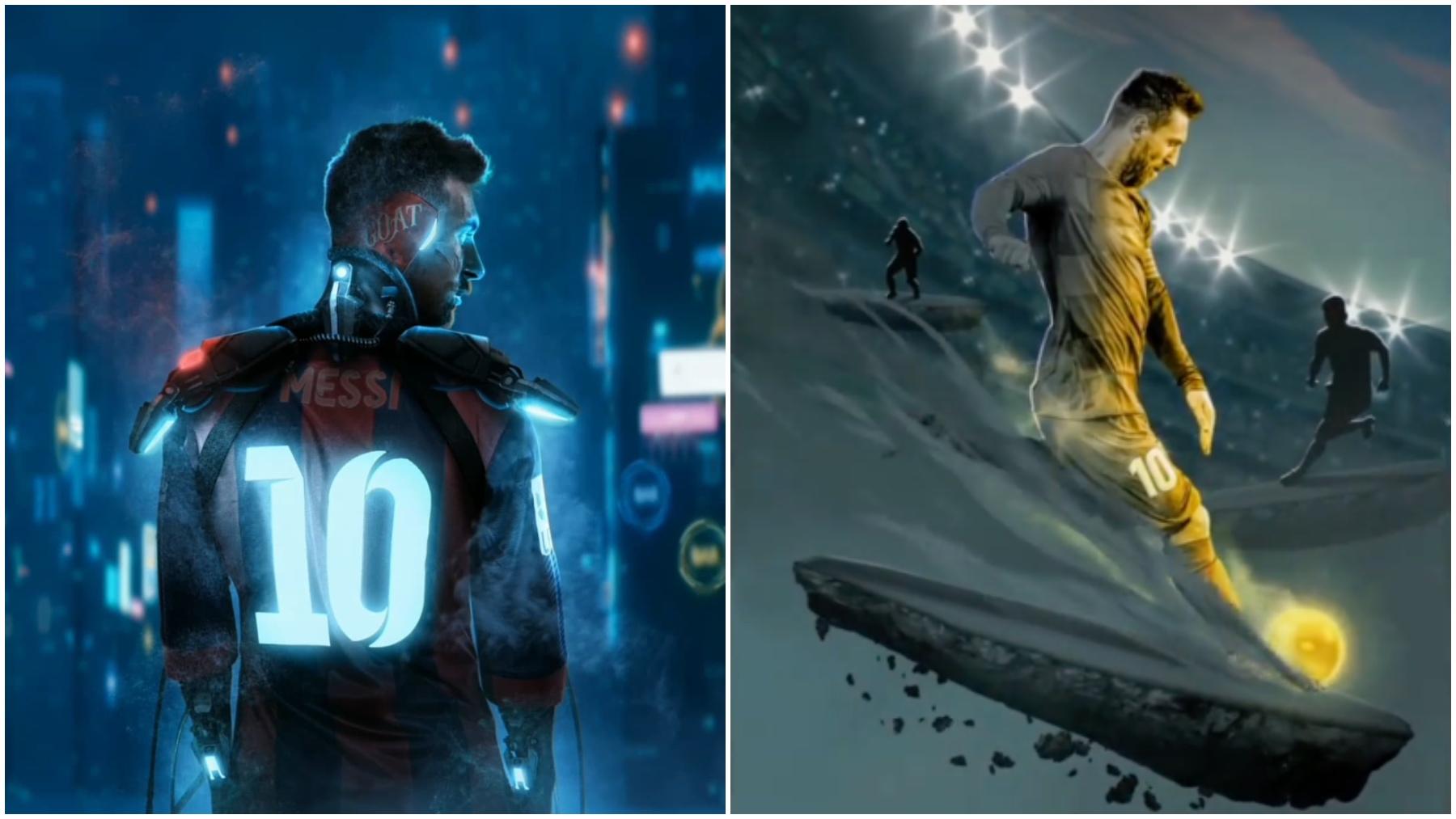 Ilustraciones de BossLogic realizadas para Leo Messi (@bosslogic · @leomessi)