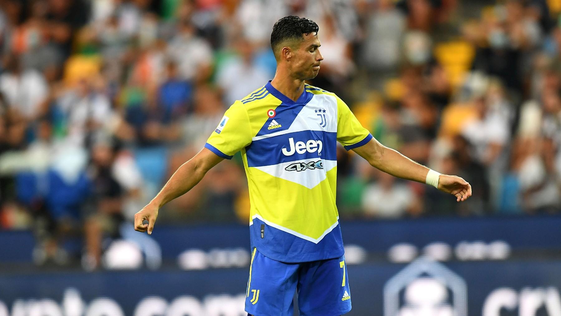 Cristiano Ronaldo, durante un partido de la Juventus (Getty).