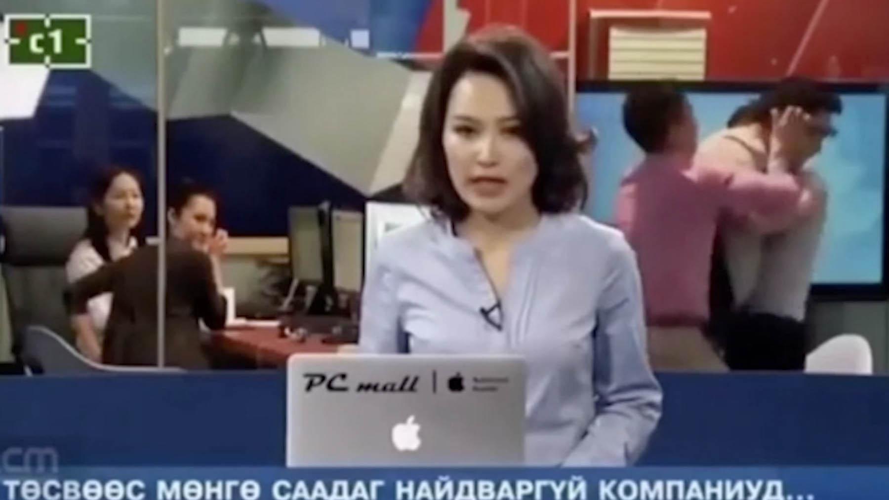 Presentadora de una televisión de Mongolia.