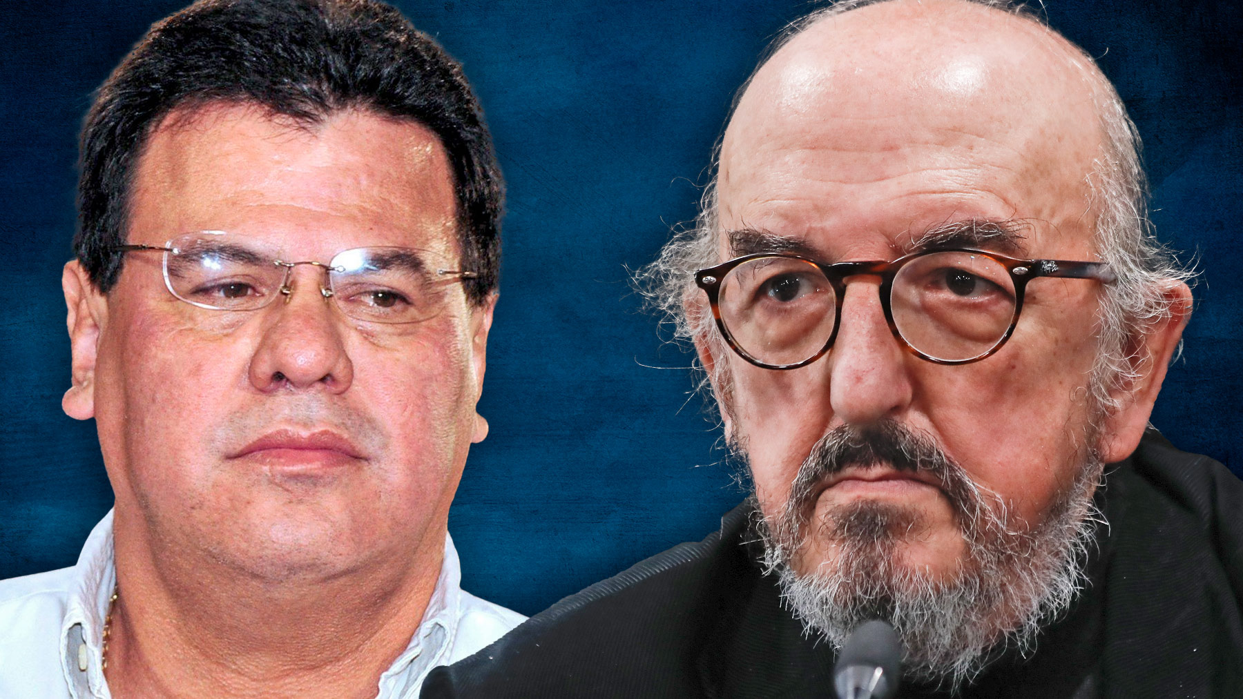 Reynaldo Vásquez y Jaume Roures.