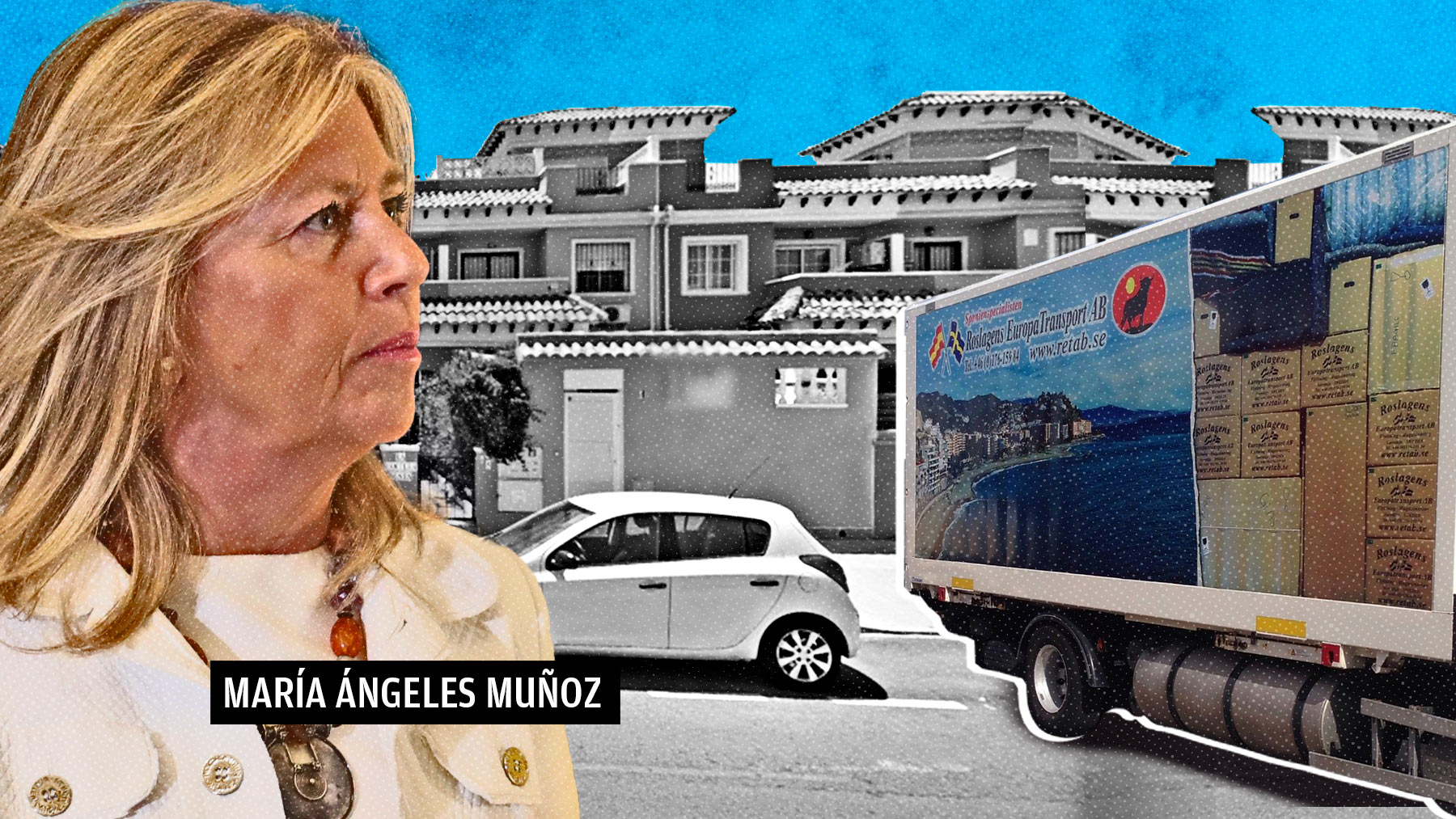 Fotomontaje de la alcaldesa de Marbella, Ángeles Muñoz.