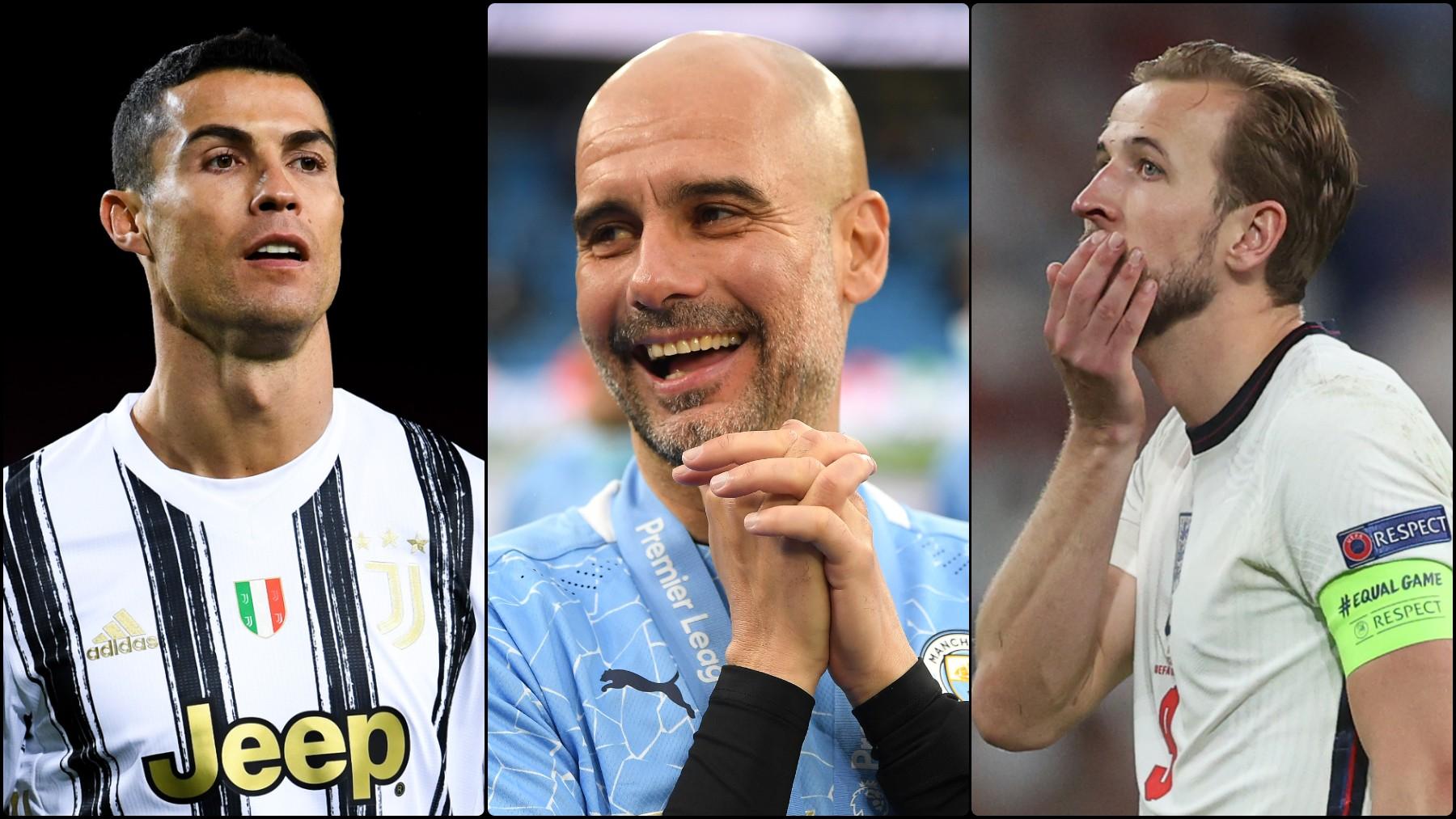 Guardiola se olvida de Kane y apunta a Cristiano. (Getty)