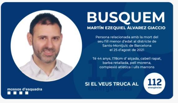 Se busca a Martín Ezequiel Álvarez