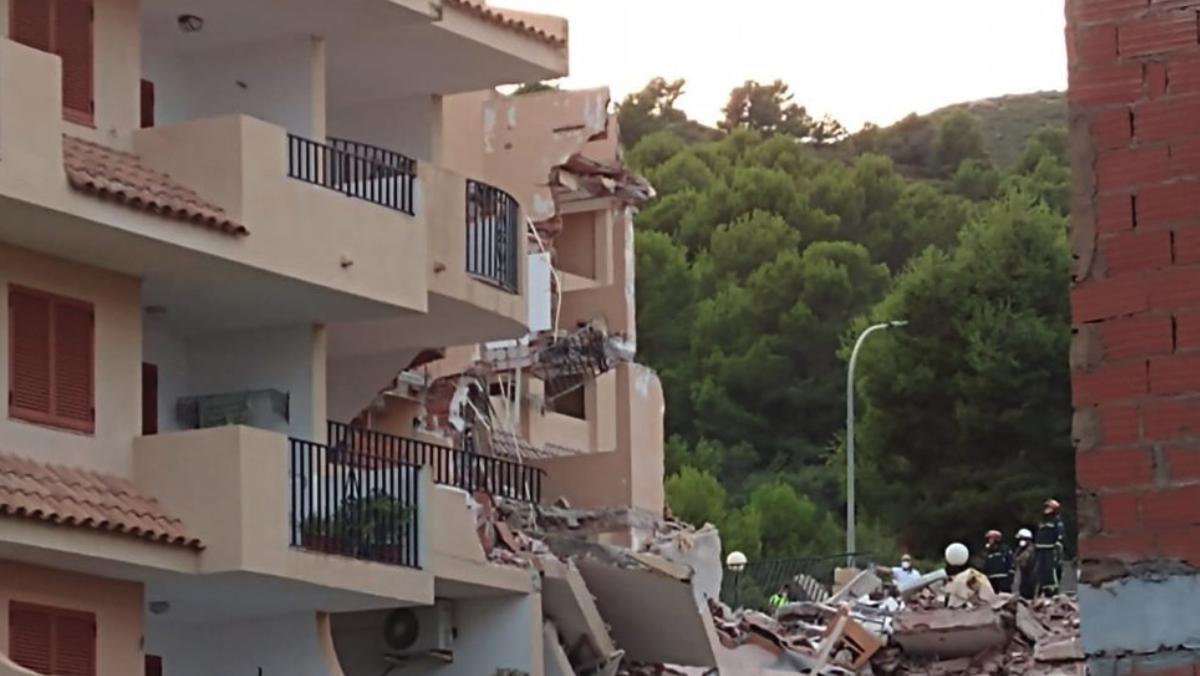 Derrumbe en Peñíscola.