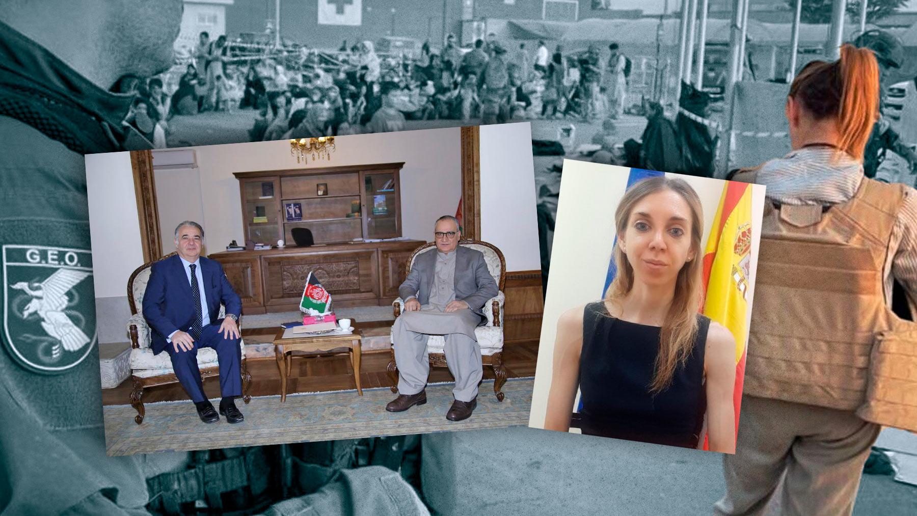 El embajador Gabriel Ferrán y su segunda, Paula Sánchez, permanecen en Kabul.