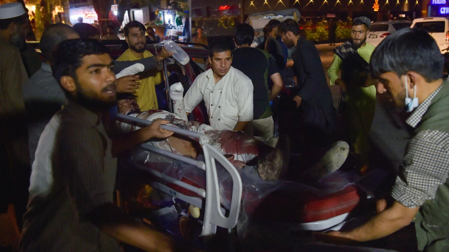 Víctimas del atentado de Kabul.