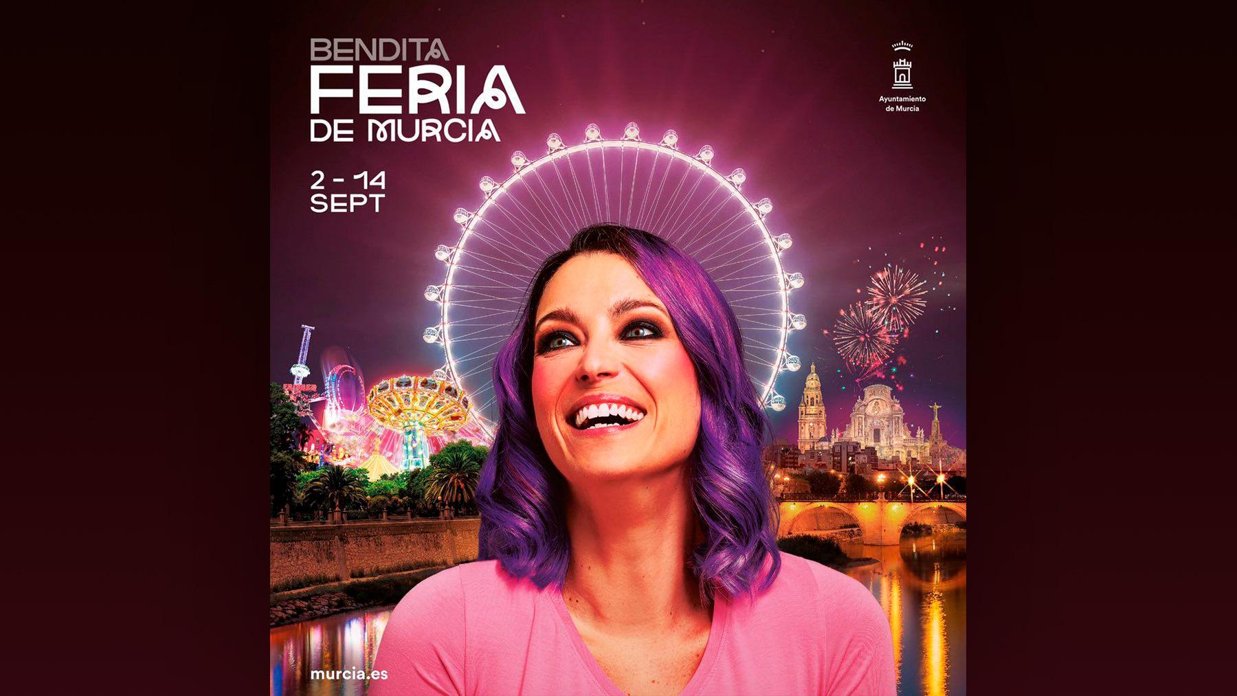 Polémico cartel del Ayuntamiento para la «bendita» Feria de Murcia.