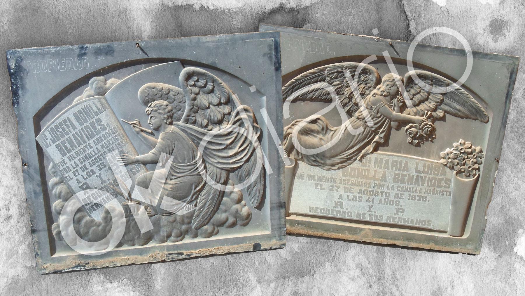Lápidas de dos de las 'Seis Laicas' de Posadas.