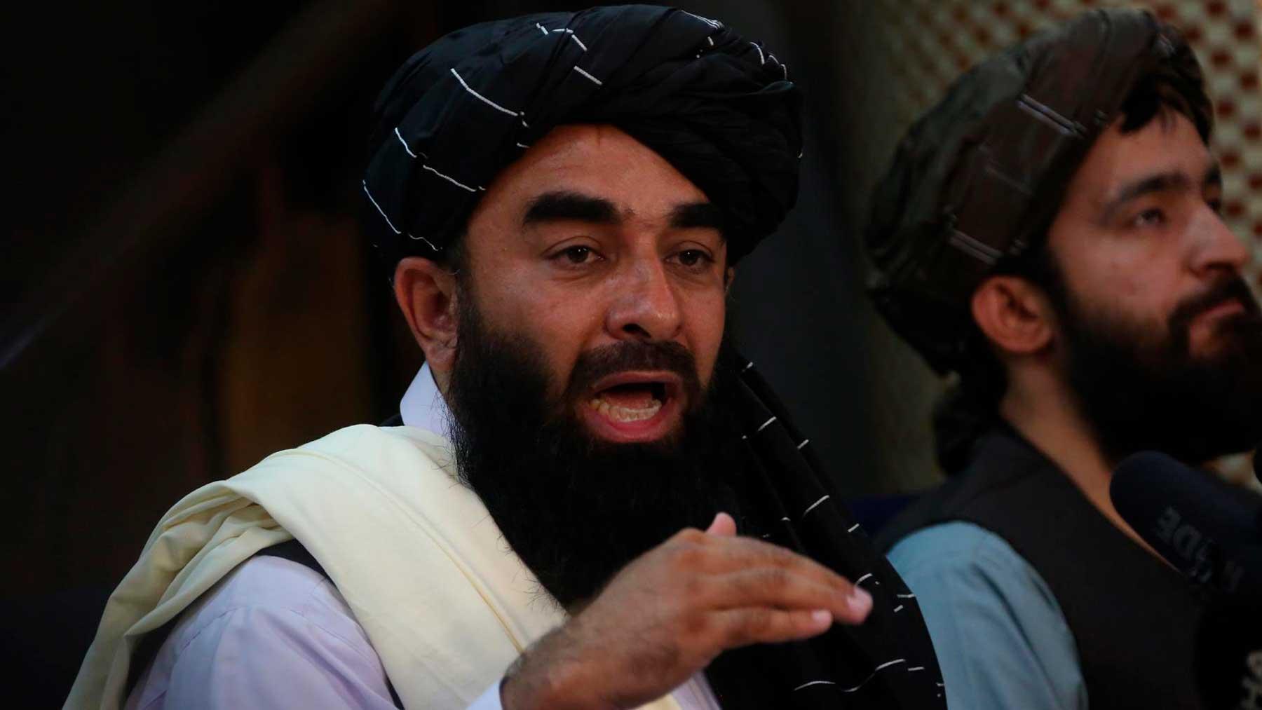 Zabihulá Muyahid, portavoz de los talibanes. Foto: EP