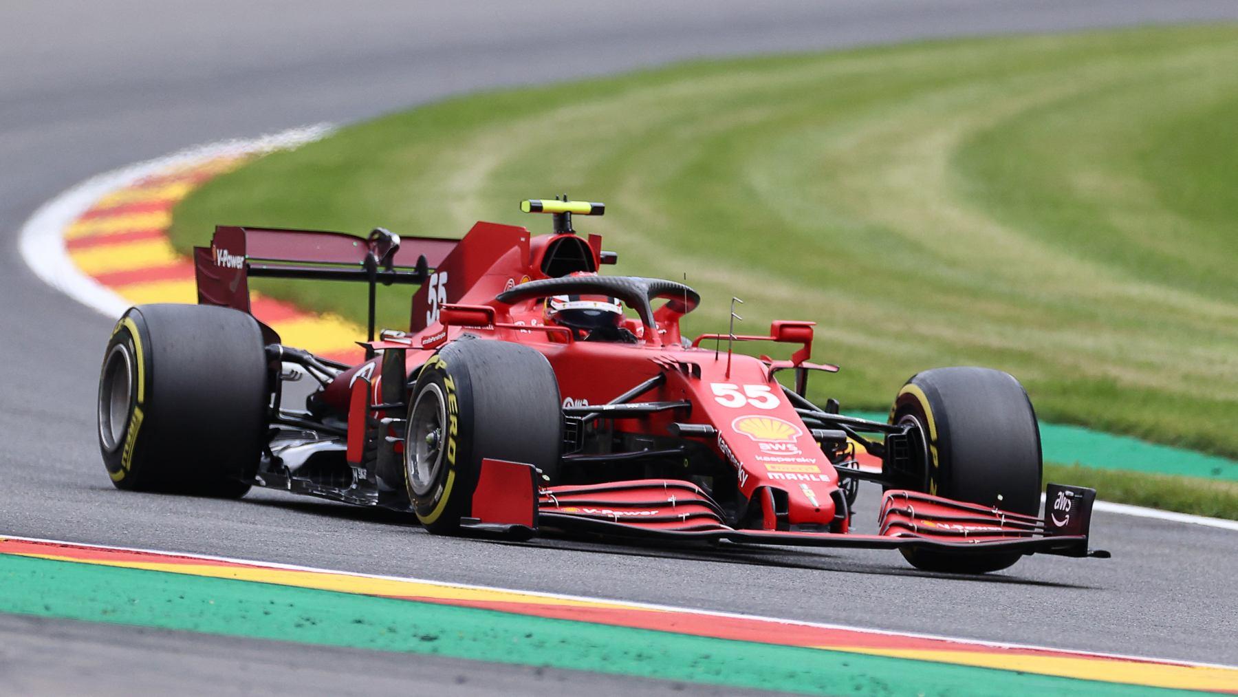Carlos Sainz en los Libres del GP de Bélgica. (AFP)