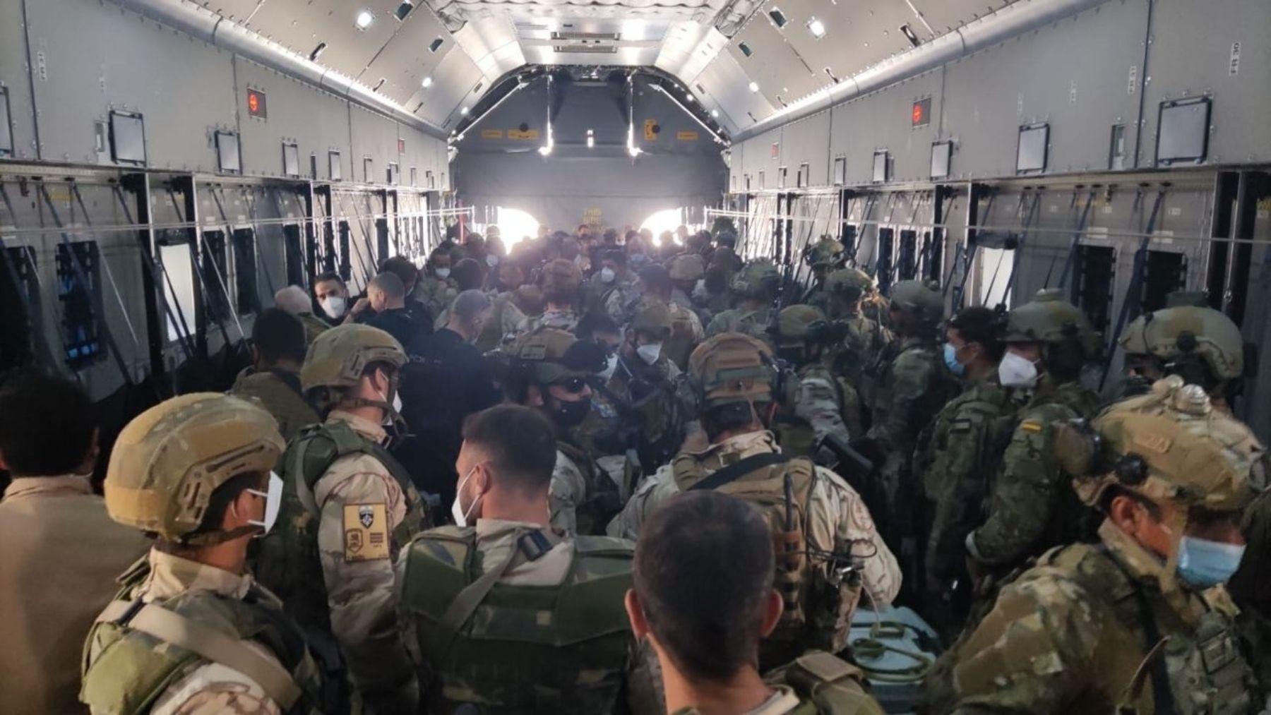 Evacuación de los militares españoles de Afganistán.