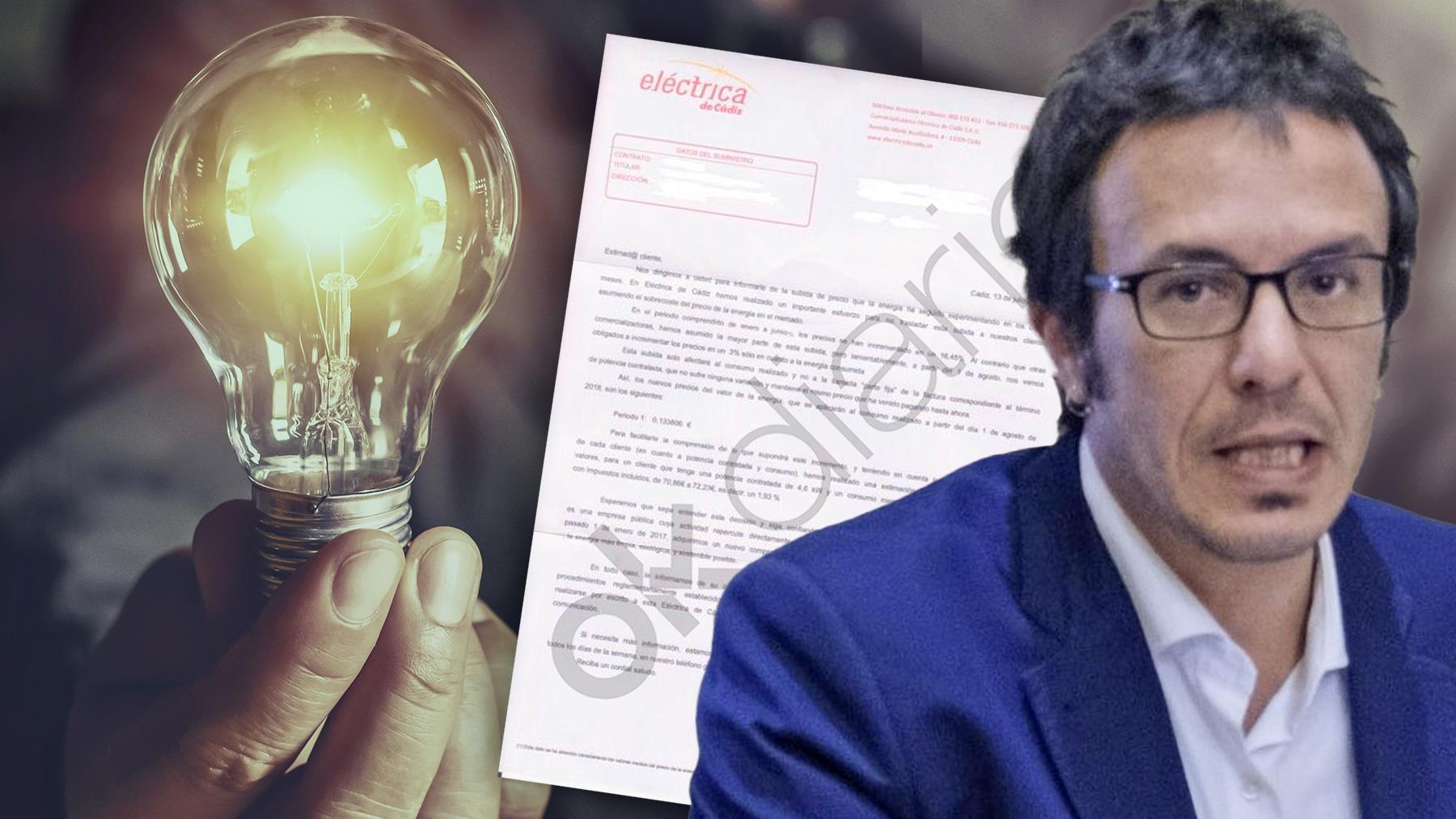 Facua denuncia ante la Junta el 'hachazo' de la eléctrica pública de 'Kichi'.