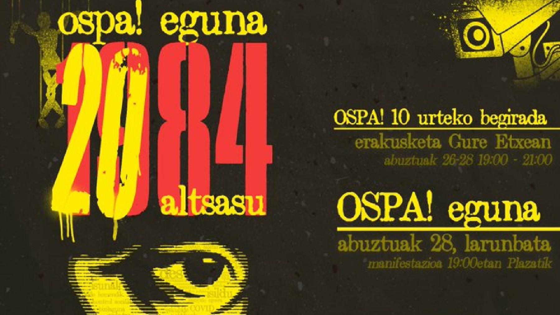 Cartel del 'Ospa Eguna' de este sábado en Alsasua.