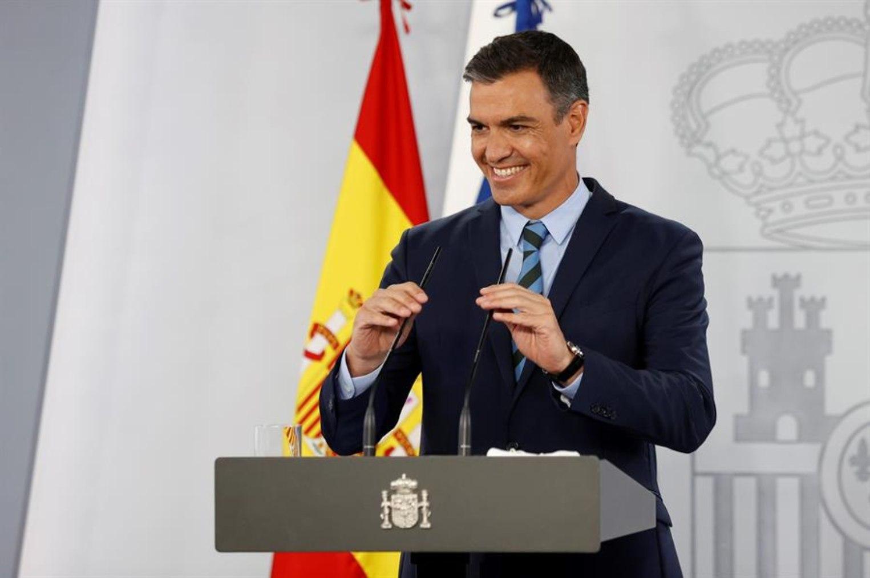 Pedro Sánchez, desde La Moncloa.