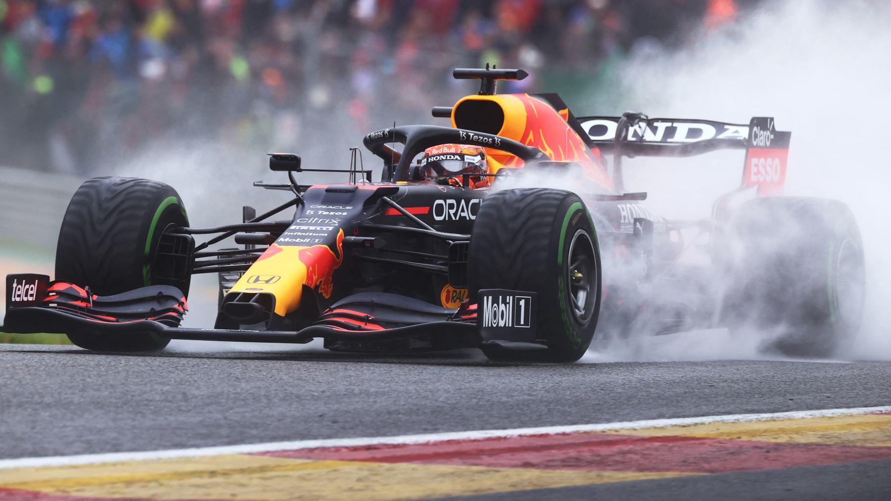 Max Verstappen en la sesión de clasificación del GP de Bélgica. (AFP)