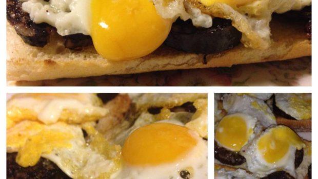 Arroz, huevos, morcilla