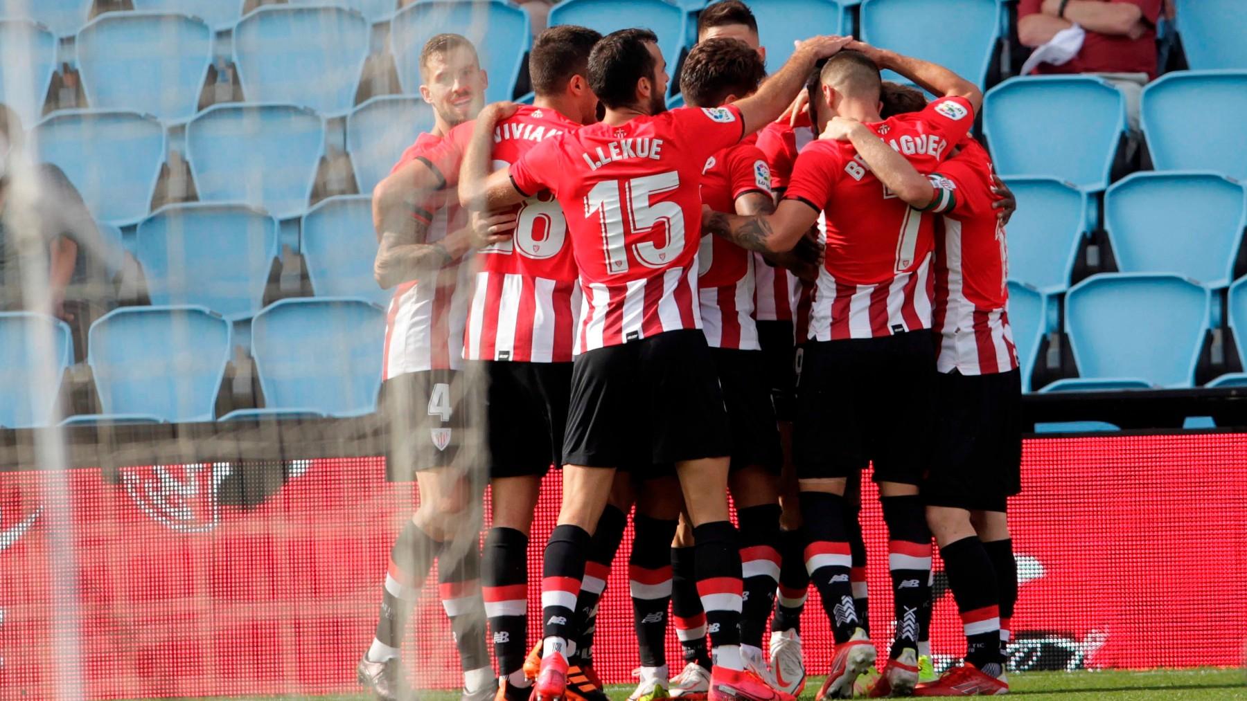 El Athletic celebra un gol. (EFE)