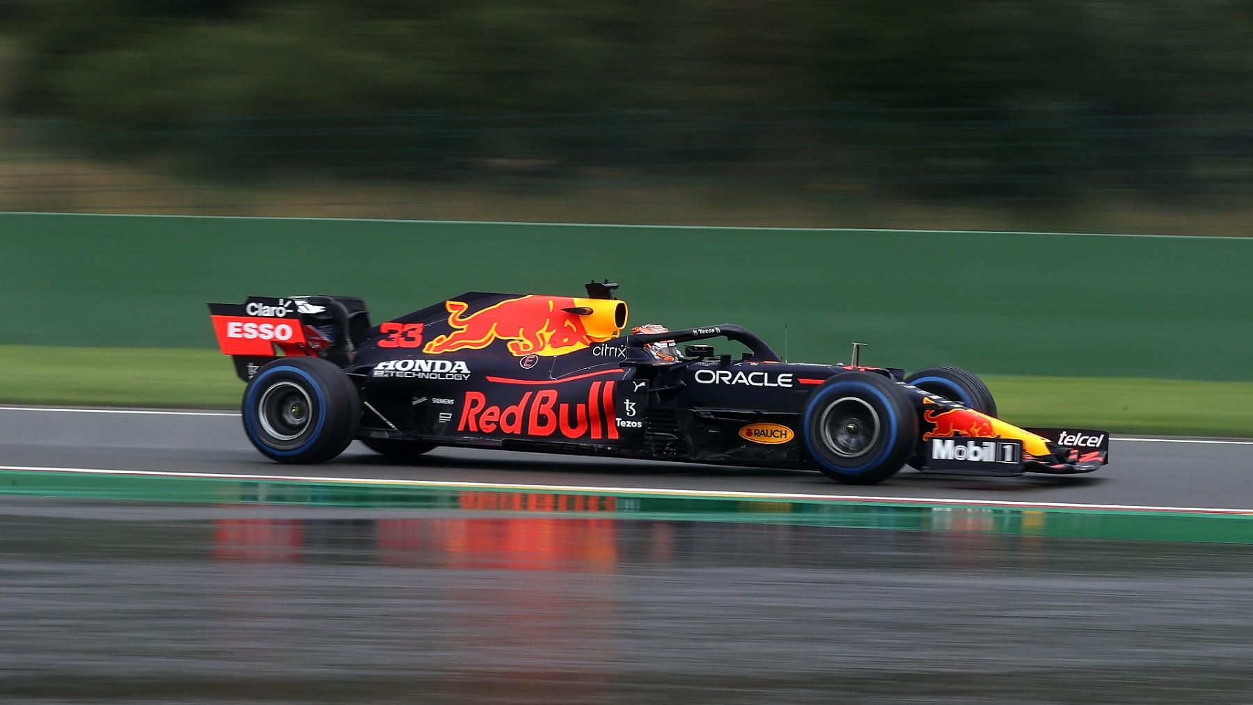 Max Verstappen, en la clasificación del Gran Premio de Bélgica. (Getty)