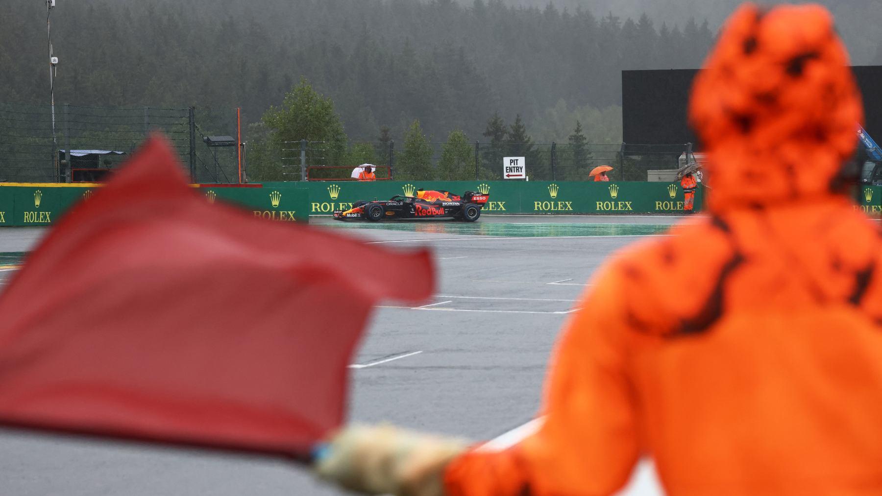 Max Verstappen en el Gran Premio de Bélgica. (AFP)