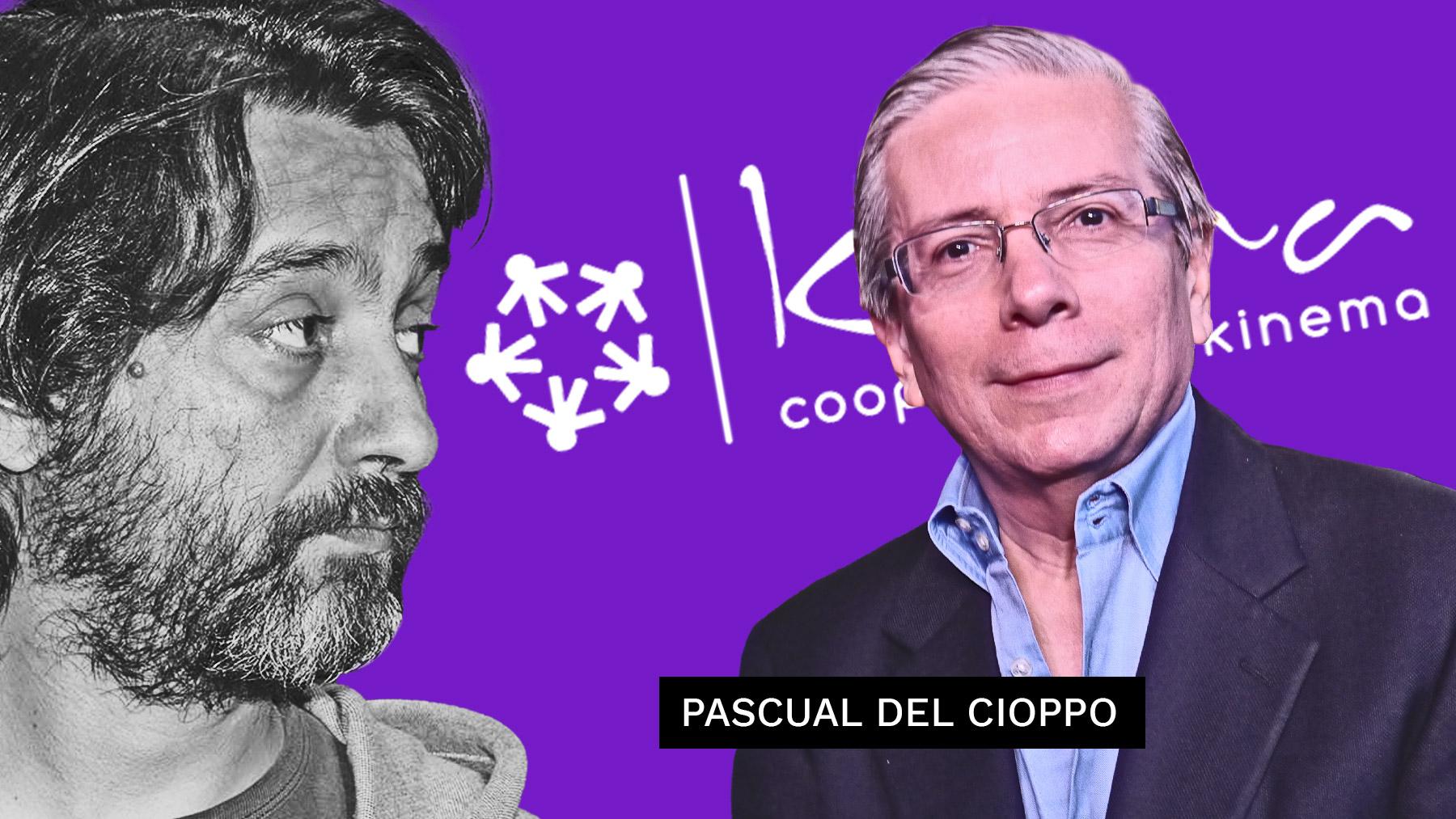 Pascual del Cioppo, nuevo embajador de Ecuador en España, junto con Rafael Mayoral, fundador de Kinema, la cooperativa de Podemos.